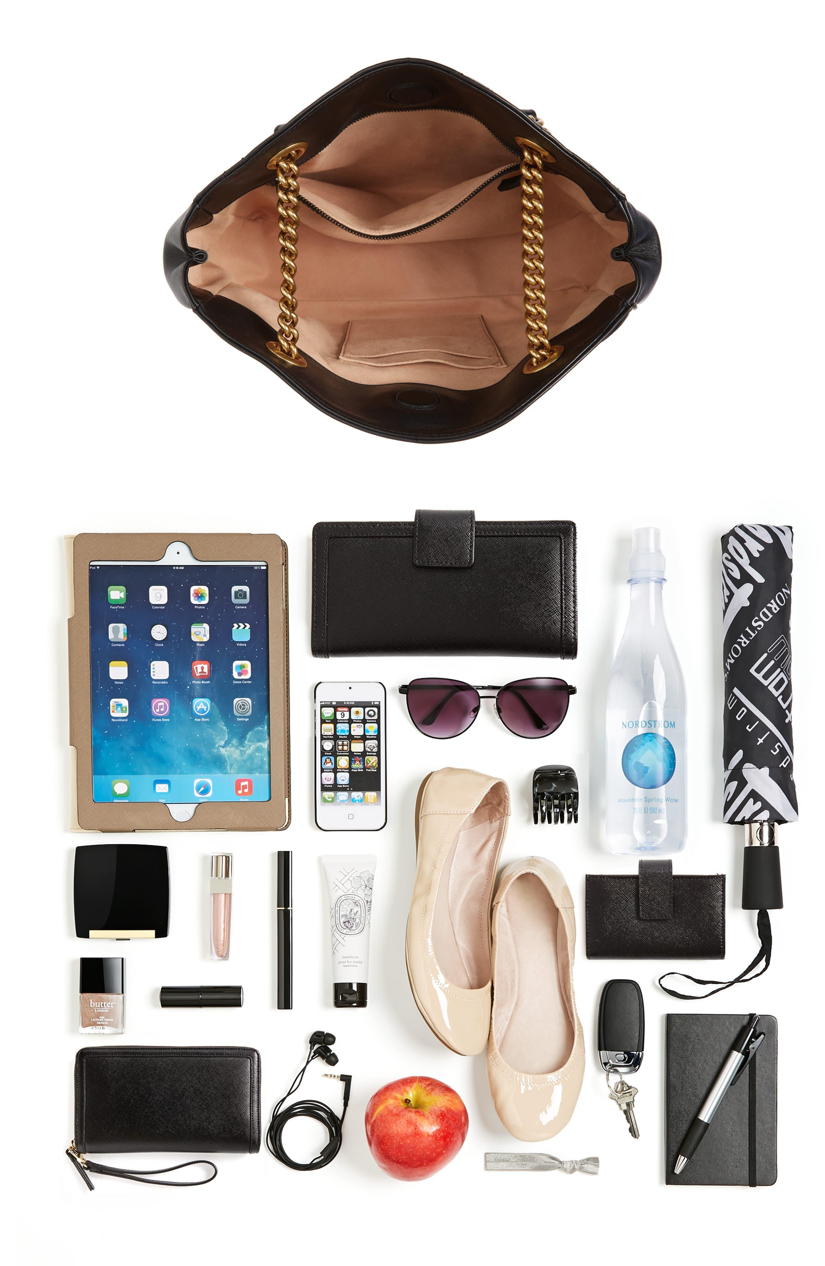 GG Marmont Medium Matelassé Leather Top Handle Shoulder Bag,                             Alternate thumbnail 7, color,                             005