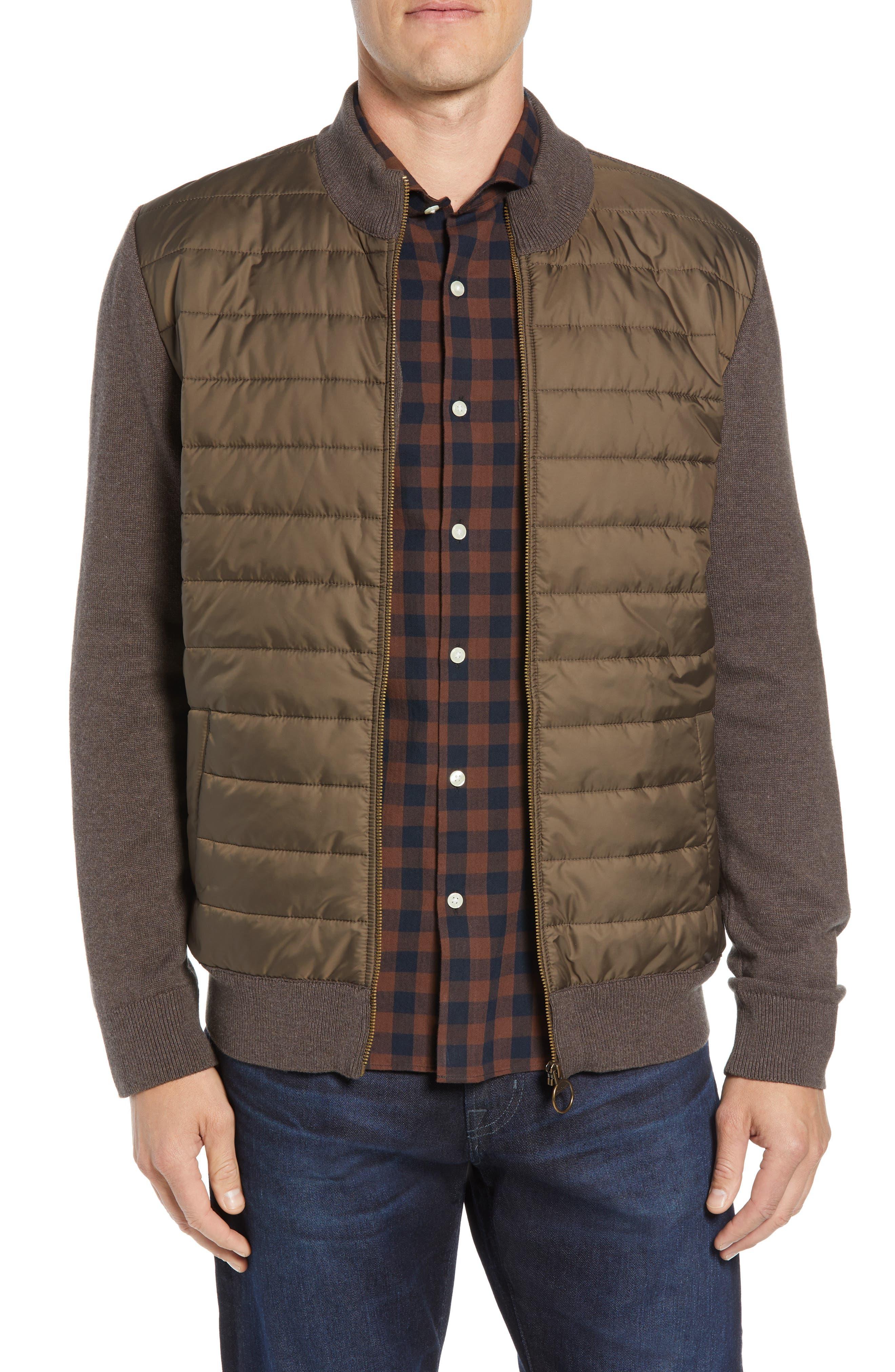 BARBOUR,                             Carn Baffle Front Knit Jacket,                             Main thumbnail 1, color,                             250
