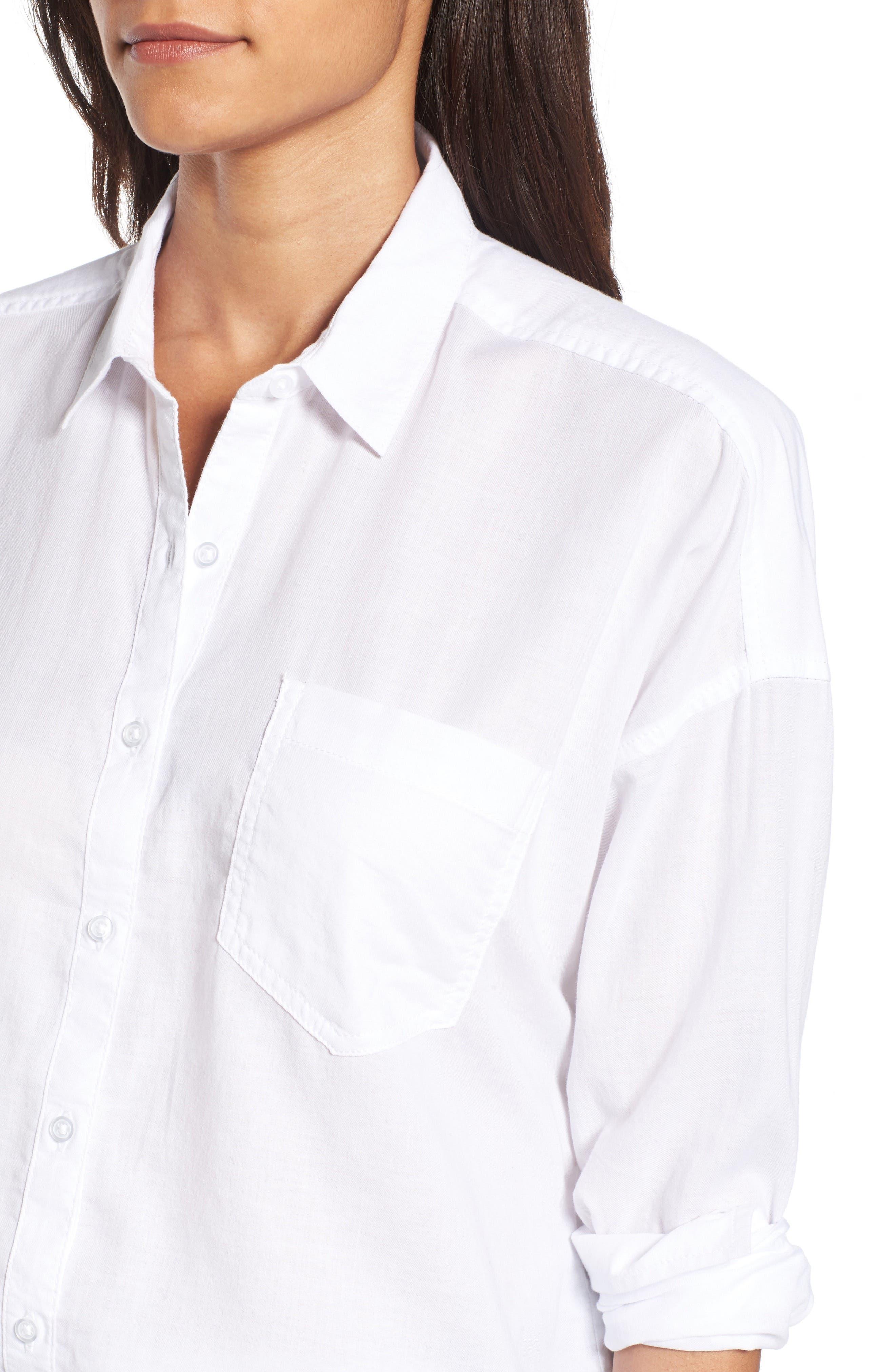 BP.,                             Cotton Shirt,                             Alternate thumbnail 4, color,                             100