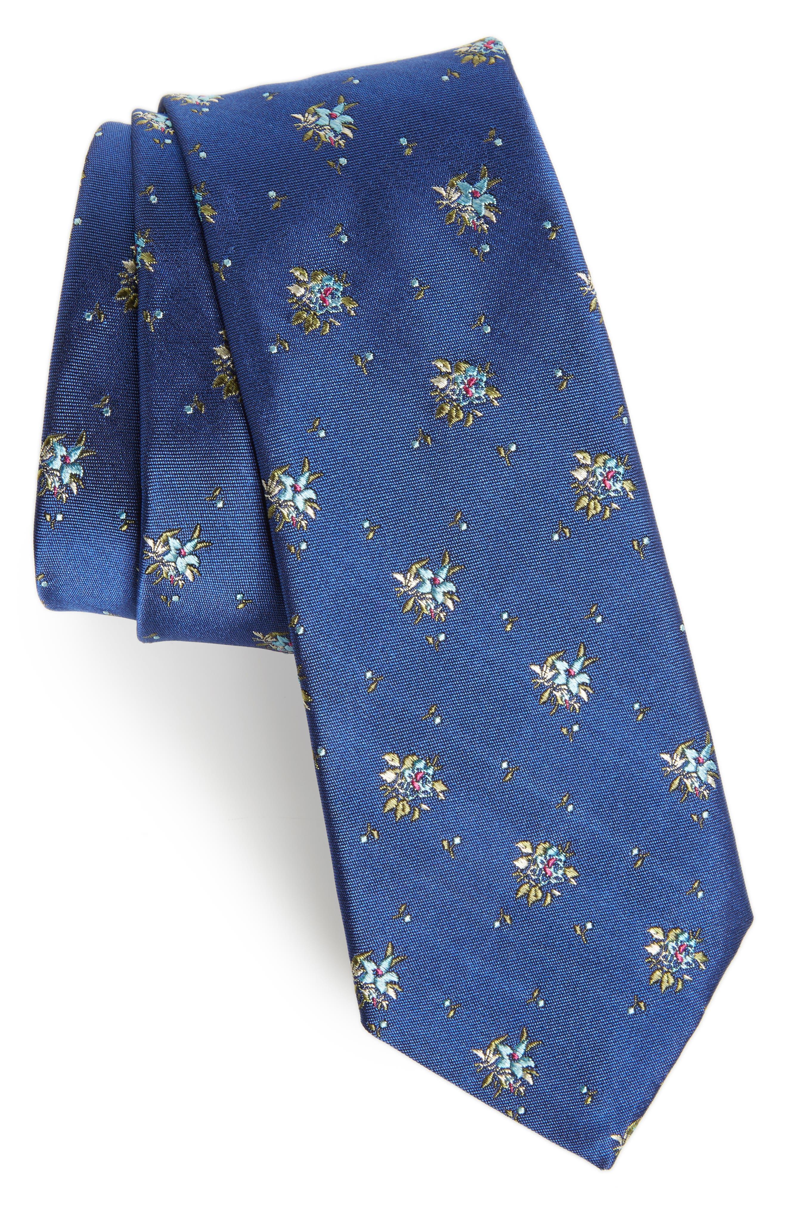 Floral Silk Tie,                         Main,                         color, 400