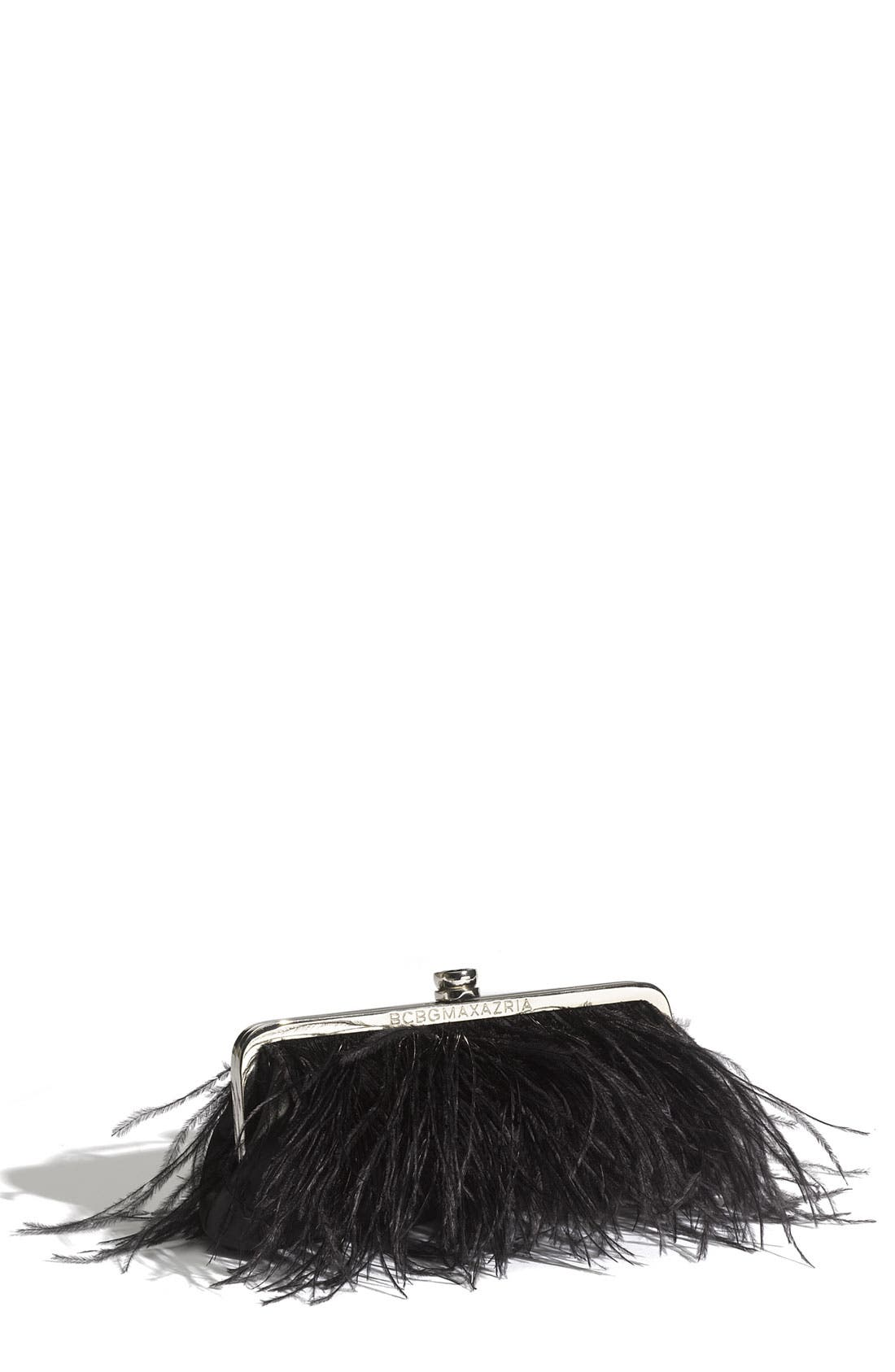 'Feather' Clutch, Main, color, 001