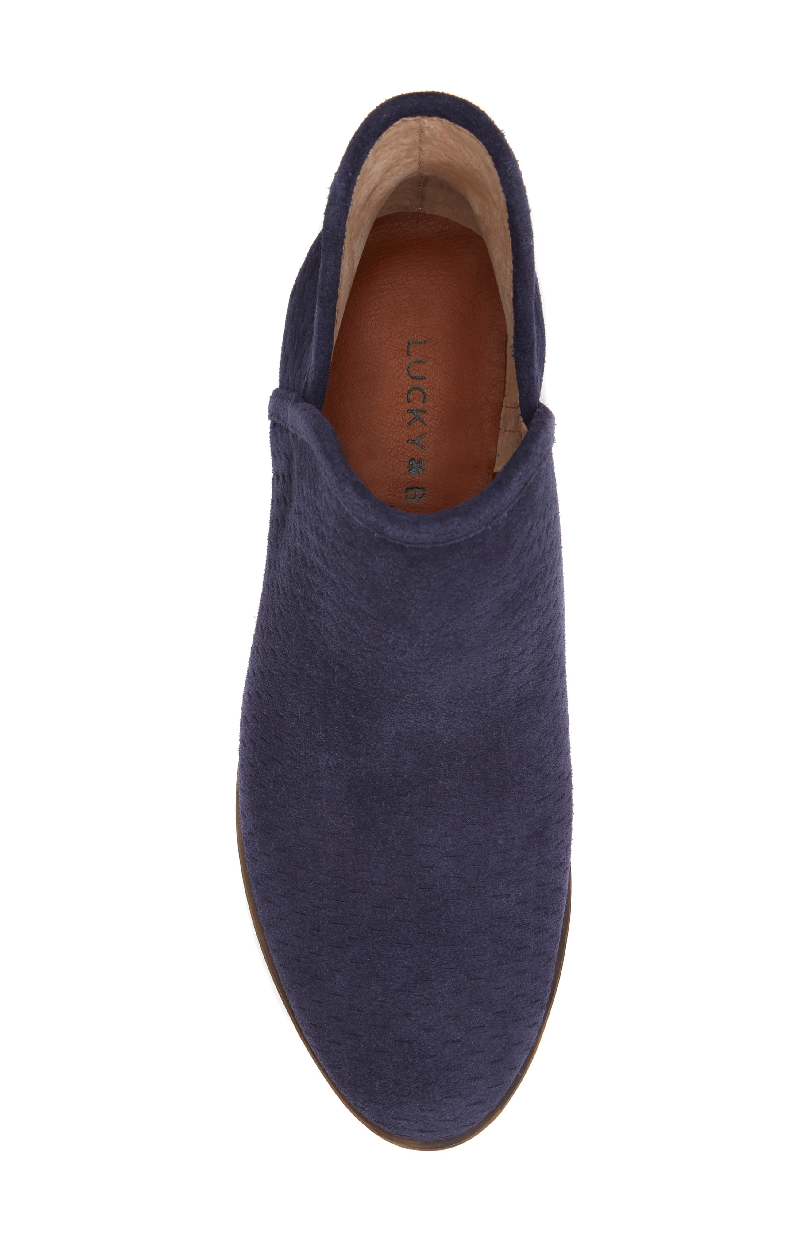 Baley Bootie,                             Alternate thumbnail 3, color,                             MOROCCAN BLUE SUEDE