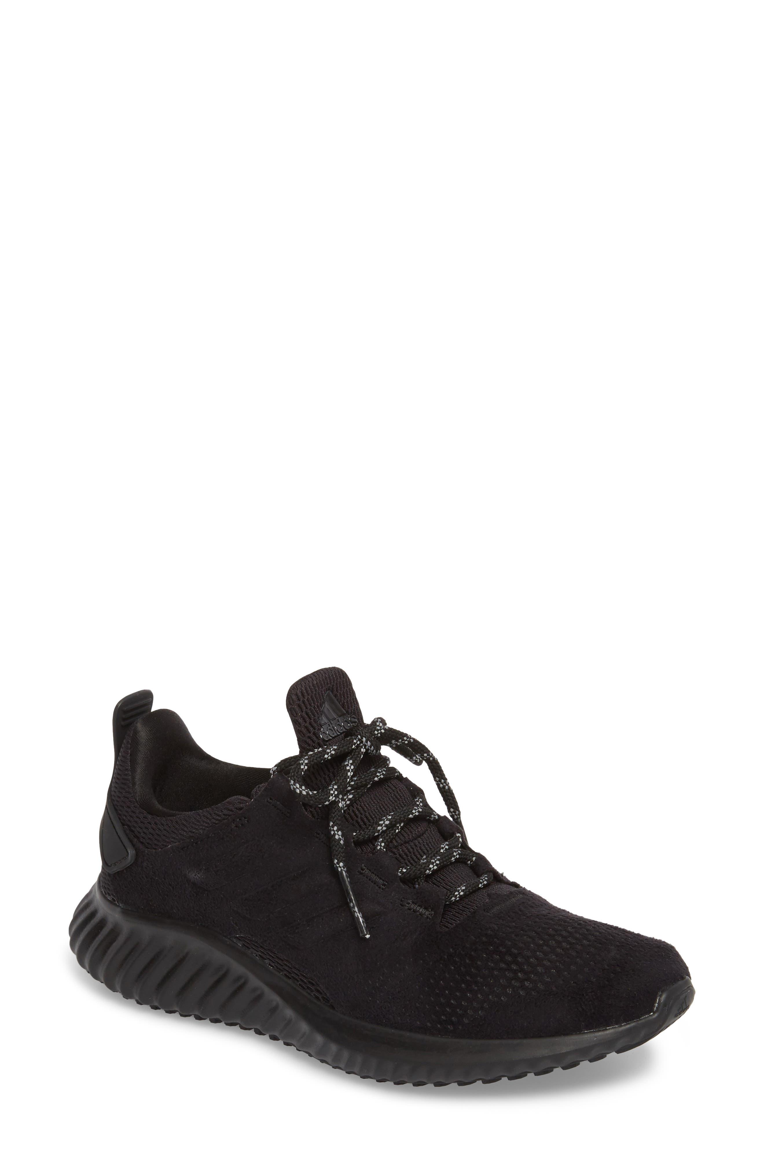 AlphaBounce CR Running Shoe,                             Main thumbnail 1, color,                             CORE BLACK/ CORE BLACK