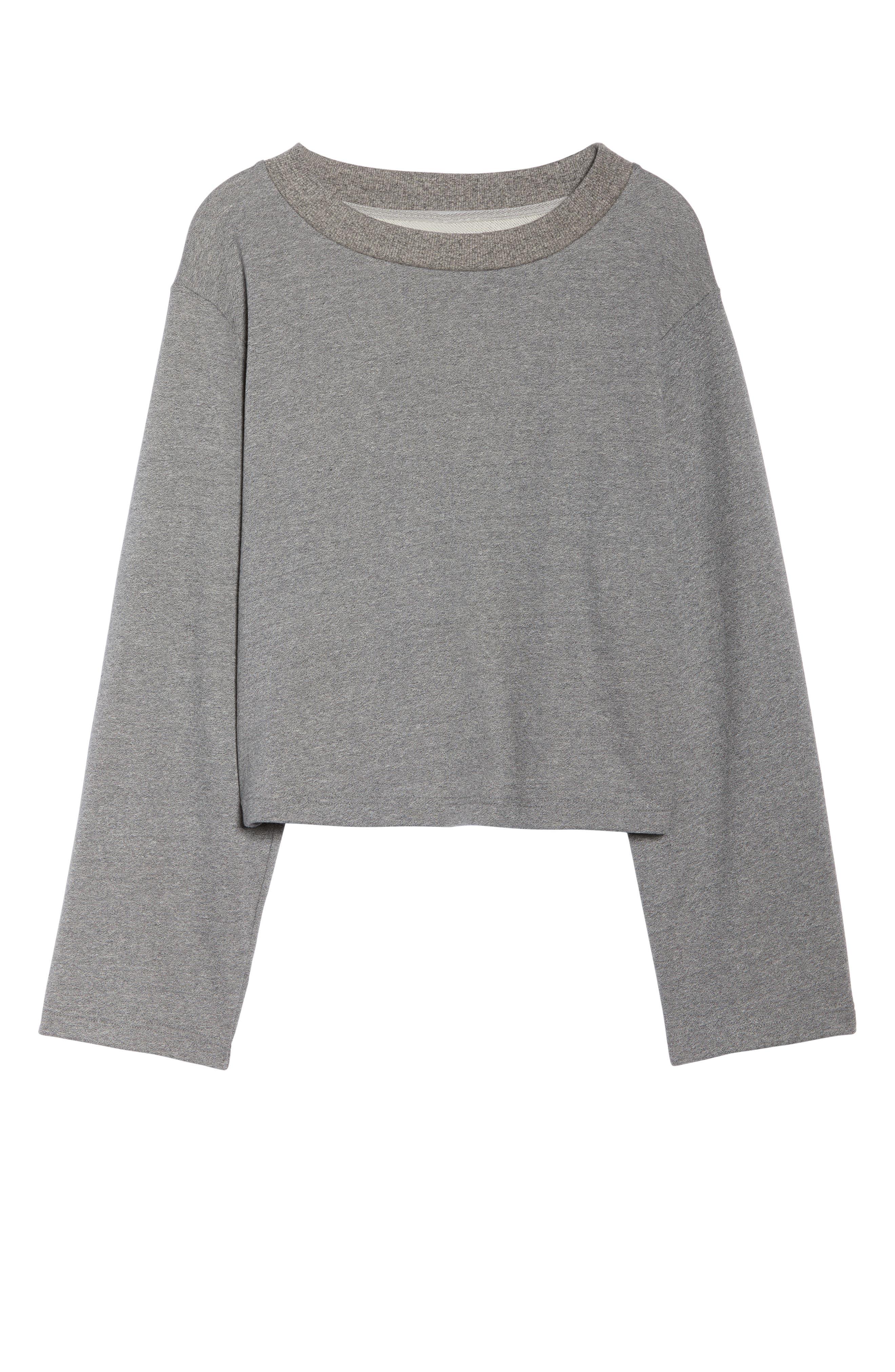 Weymouth Sweatshirt,                             Alternate thumbnail 7, color,                             DARK GREY