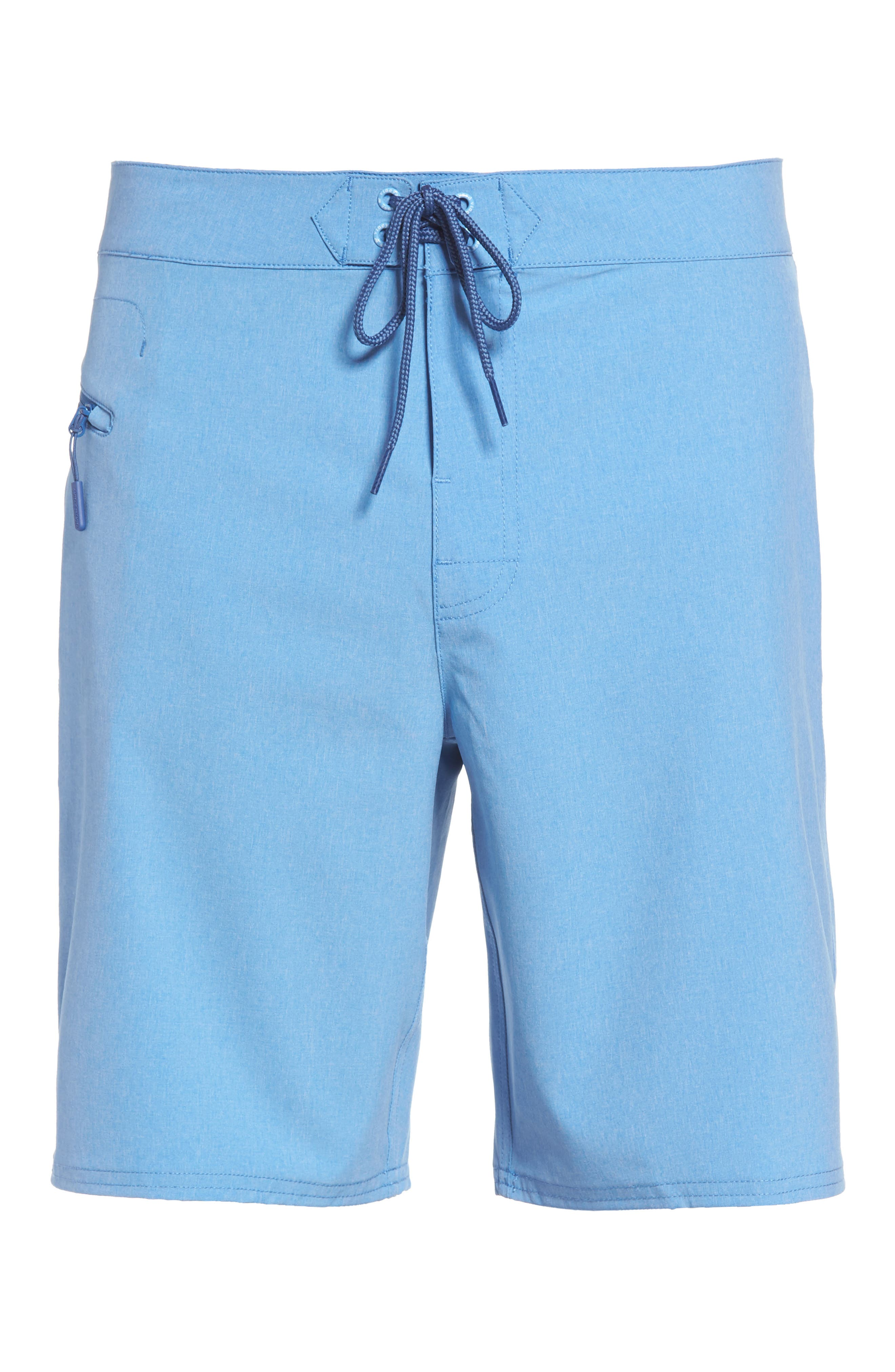 Heather Stretch Board Shorts,                             Alternate thumbnail 24, color,