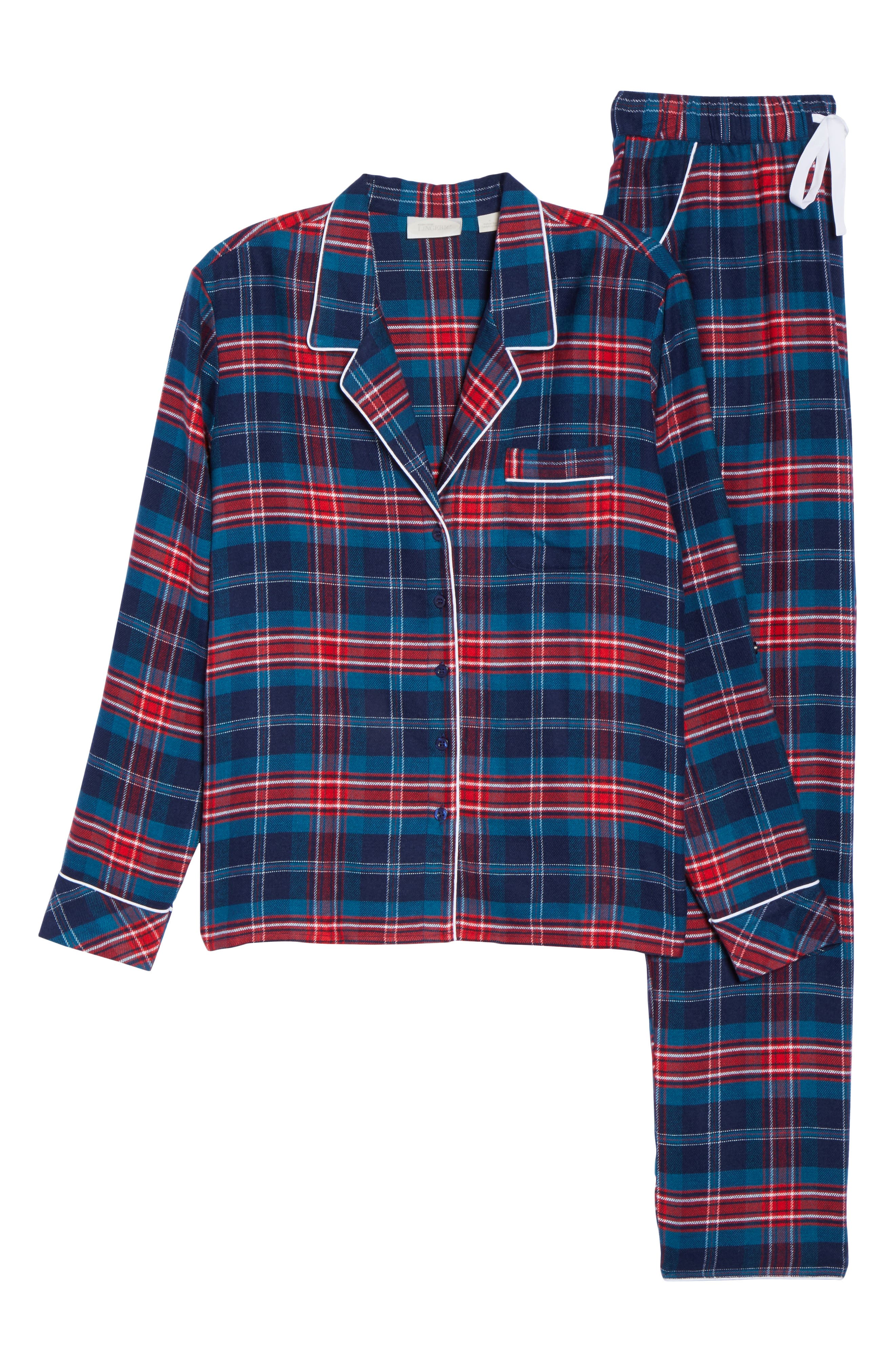 Lingerie Starlight Flannel Pajamas,                             Alternate thumbnail 27, color,