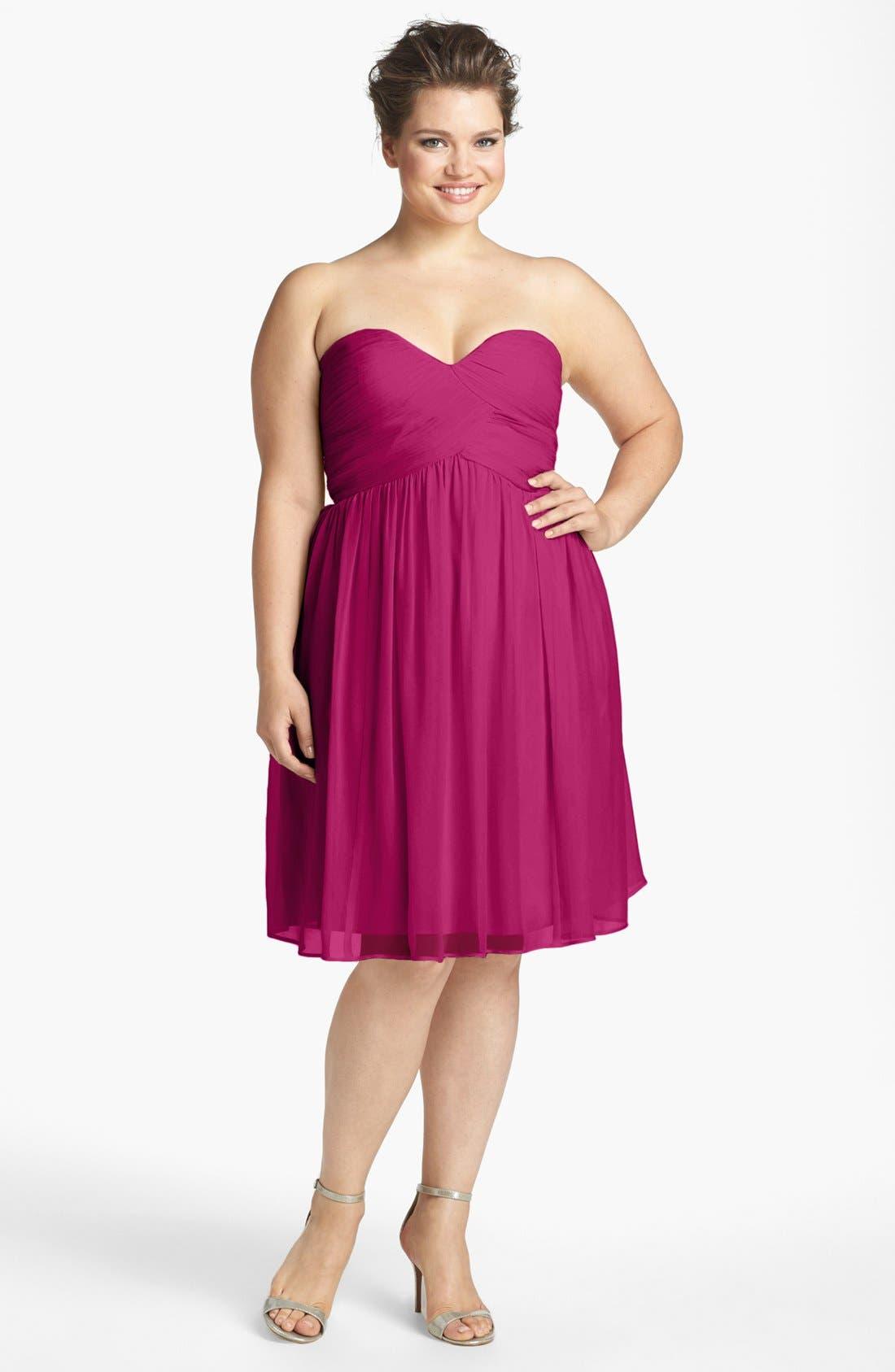 'Morgan' Strapless Silk Chiffon Dress,                             Alternate thumbnail 67, color,