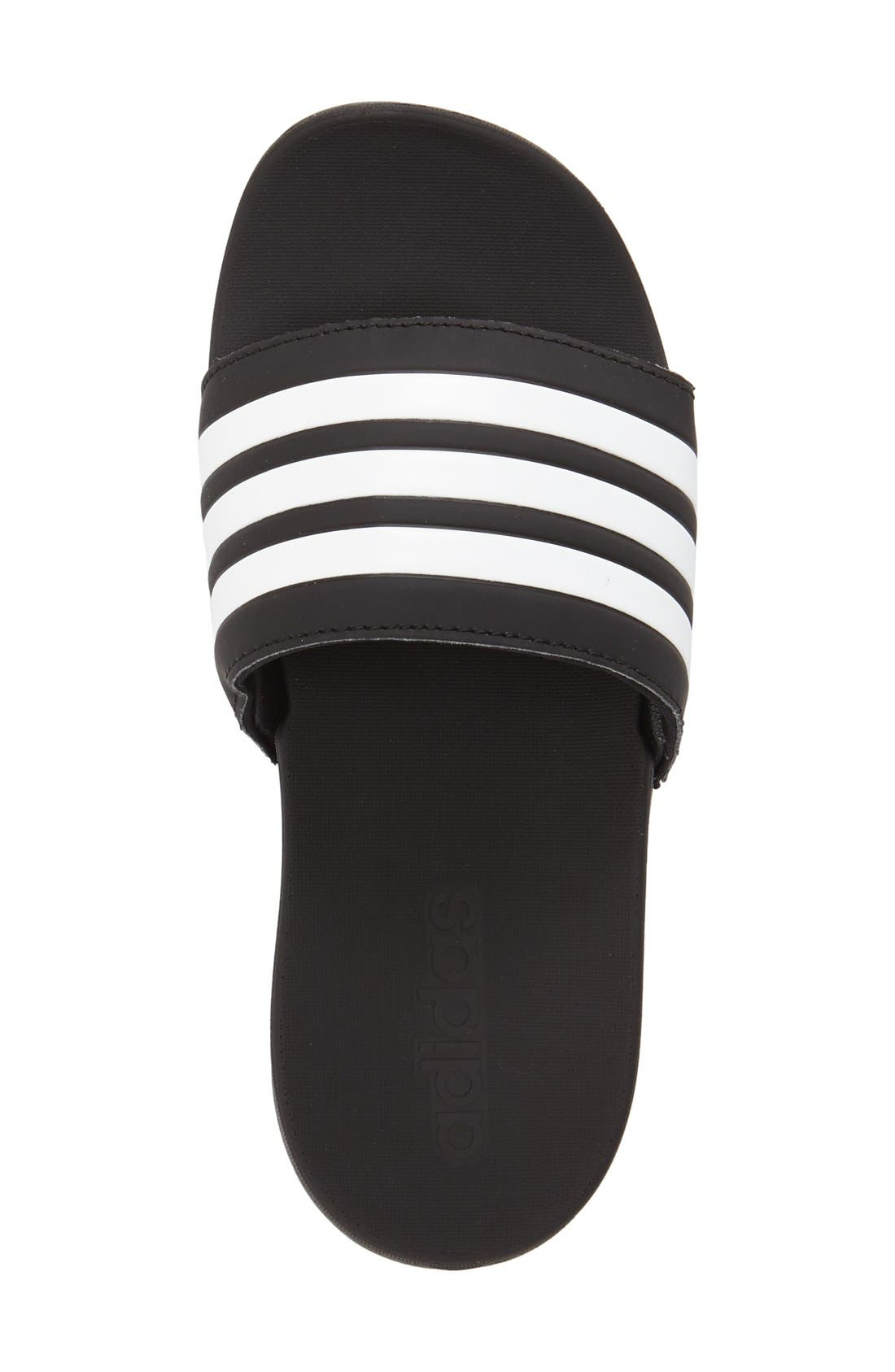 'Adilette Plus' Sandal,                             Alternate thumbnail 3, color,                             001