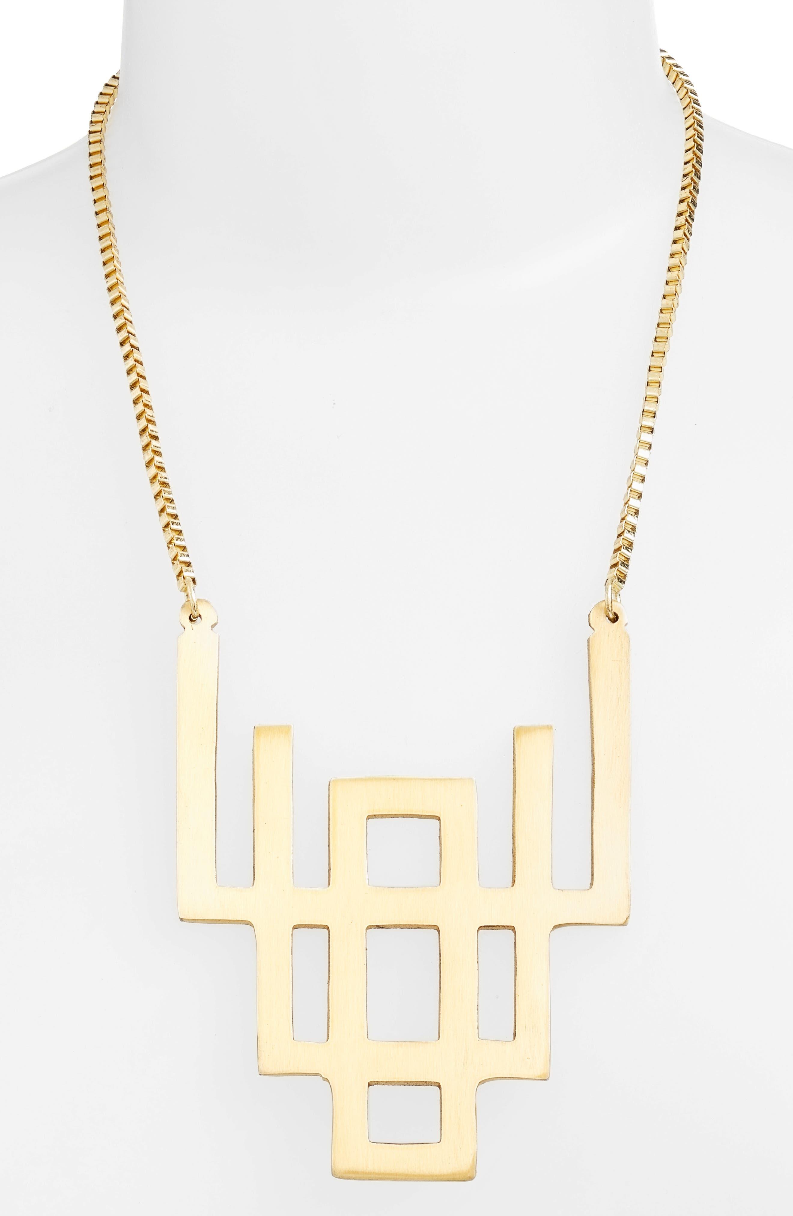 Geometric Pendant Necklace,                             Alternate thumbnail 2, color,                             710