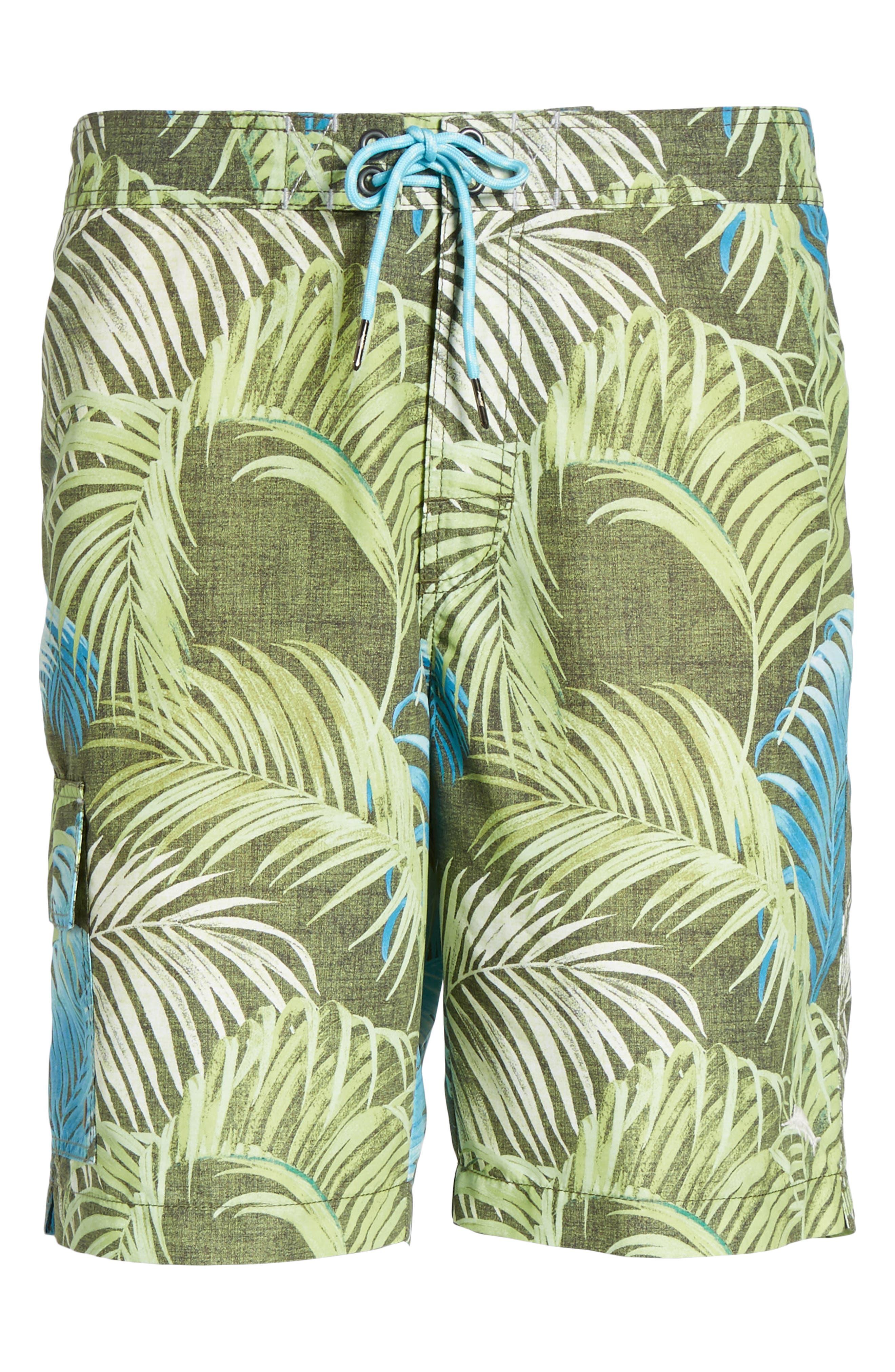 Baja Fez Frond Board Shorts,                             Alternate thumbnail 6, color,