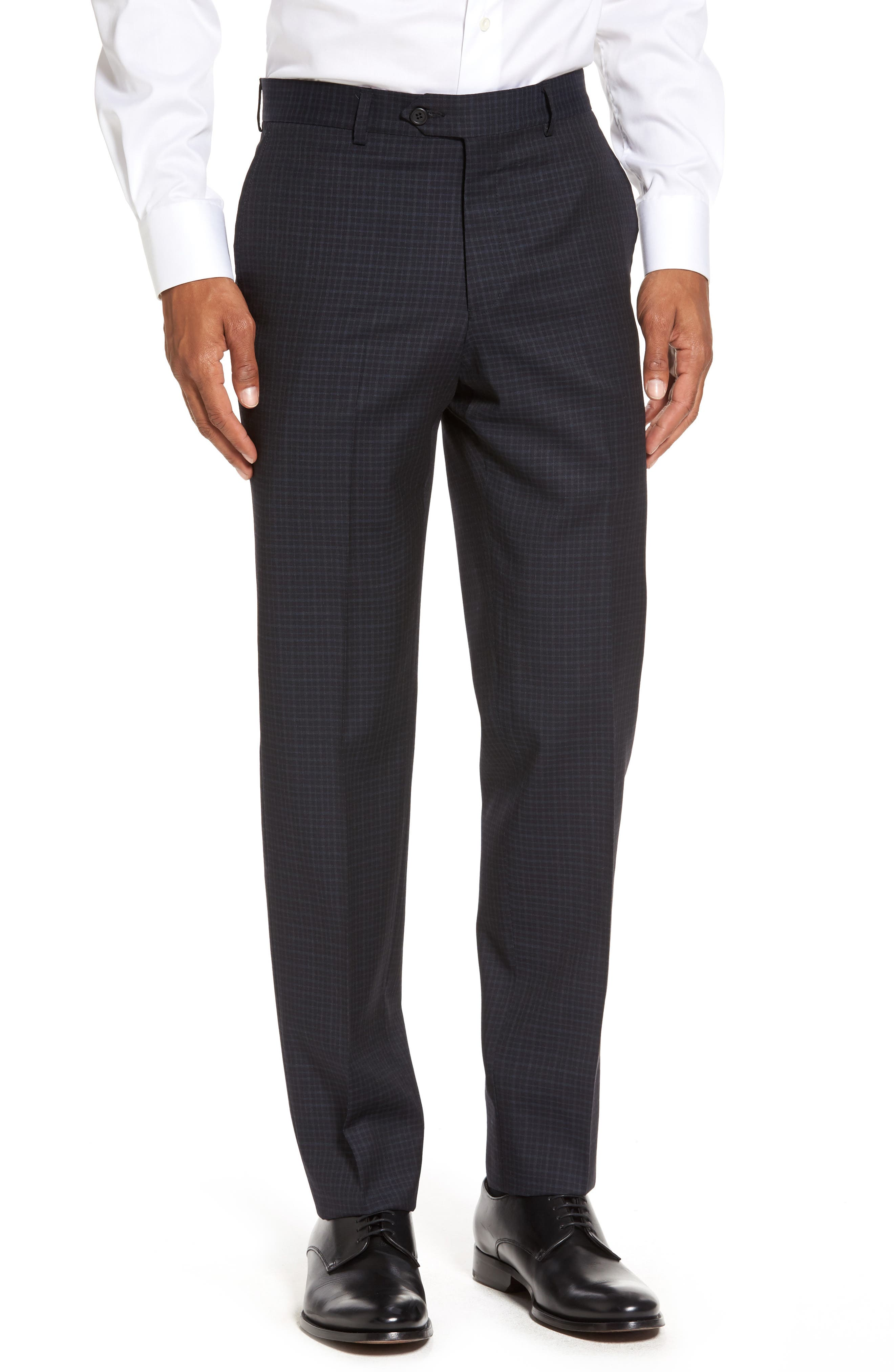 Flat Front Wool Trousers,                             Main thumbnail 2, color,