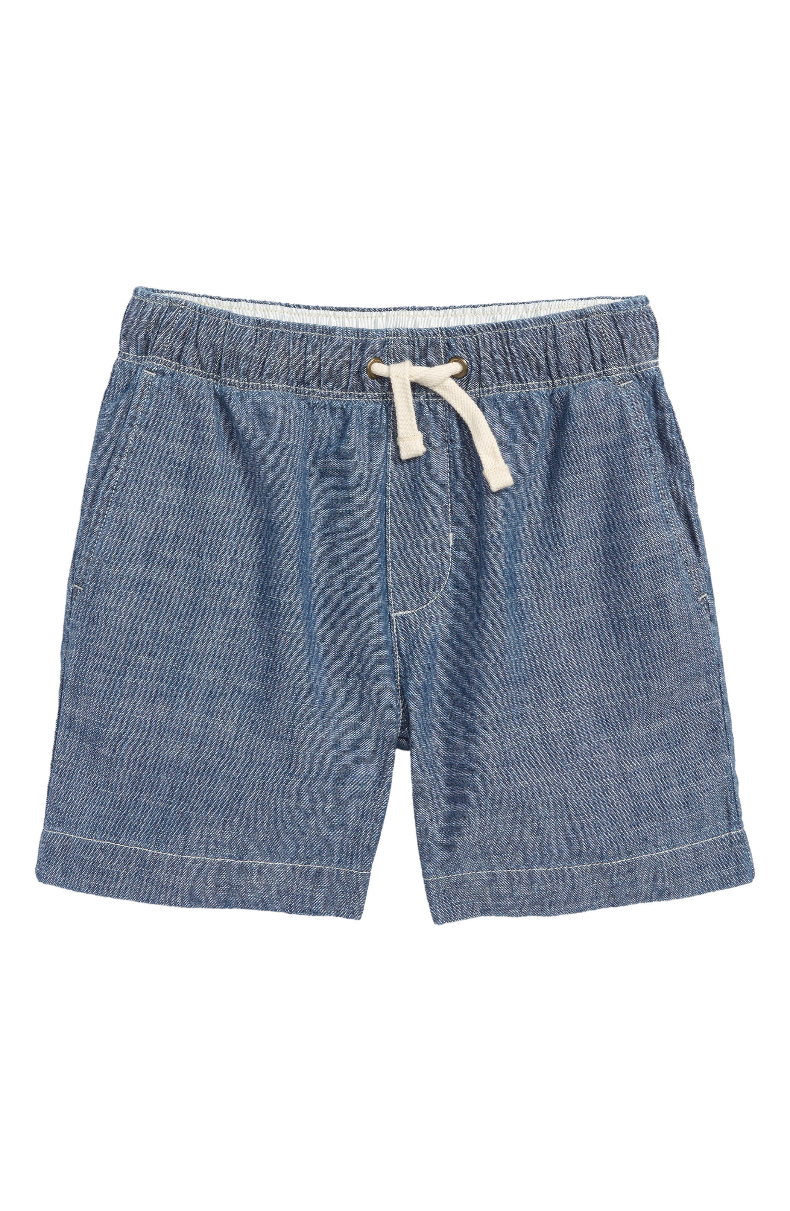 CREWCUTS BY J.CREW Dock Chambray Shorts, Main, color, 400