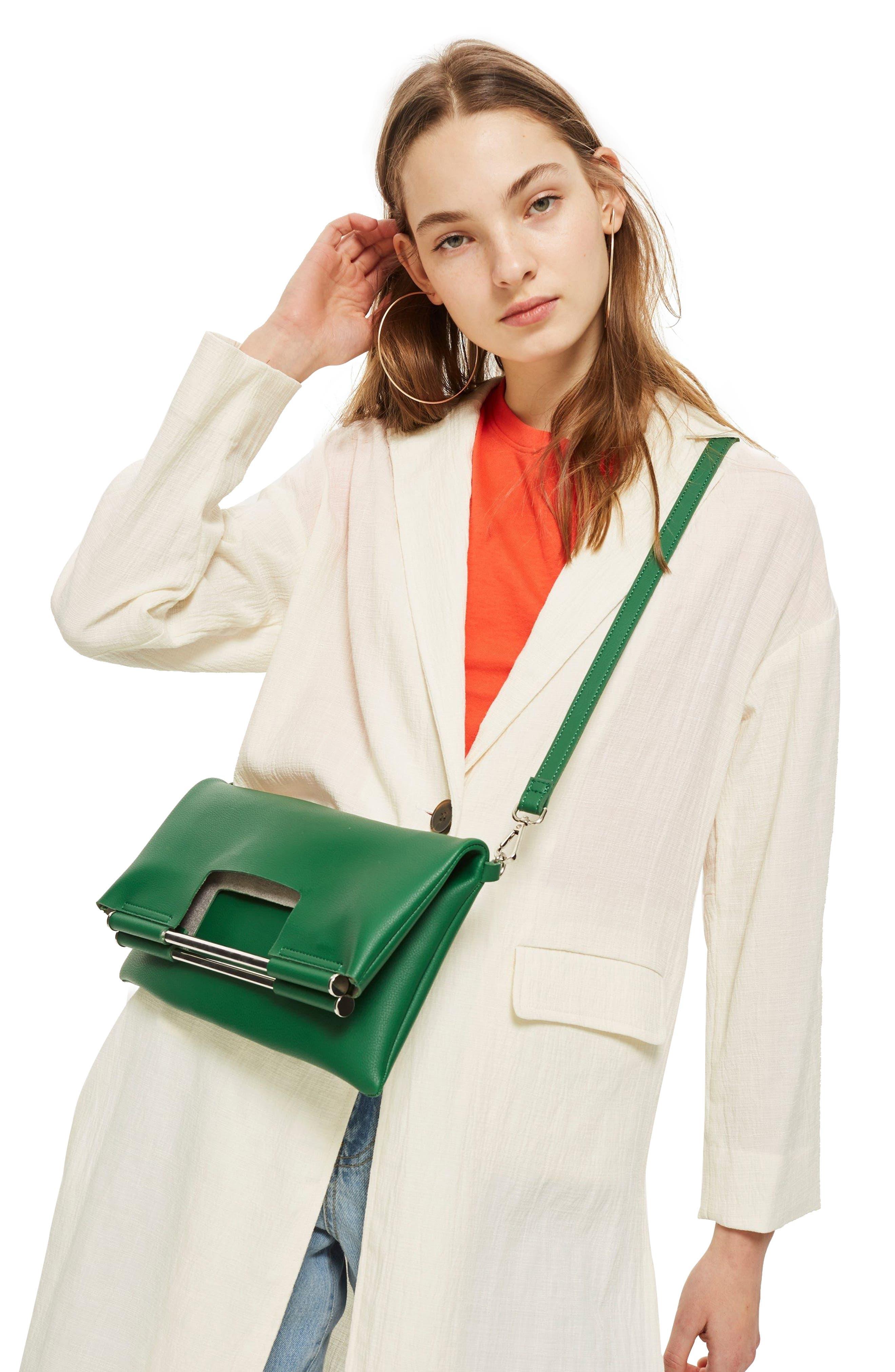 Lotus Metal Handle Clutch Bag,                             Alternate thumbnail 4, color,