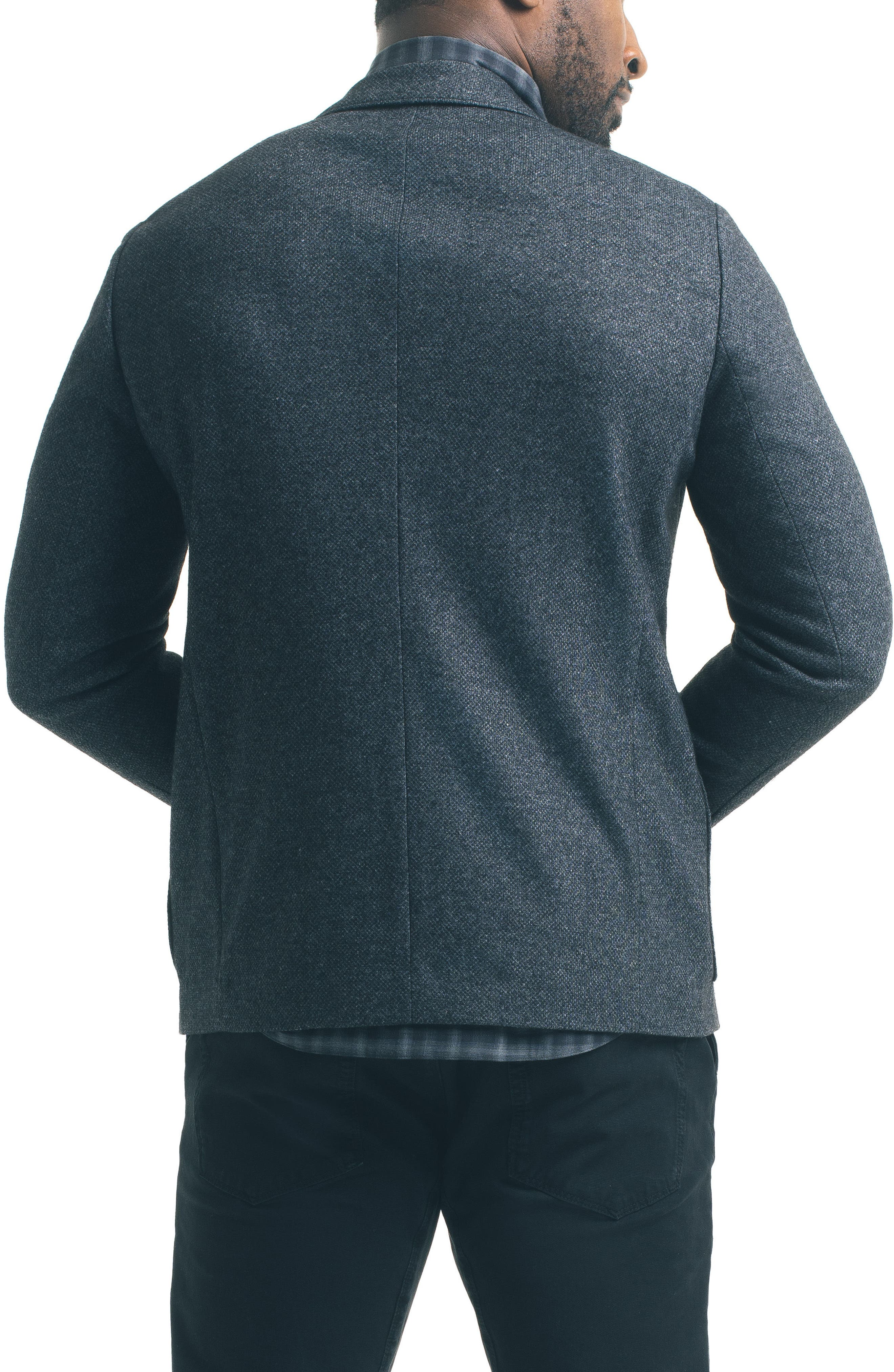 Slim Fit Knit Blazer,                             Alternate thumbnail 3, color,