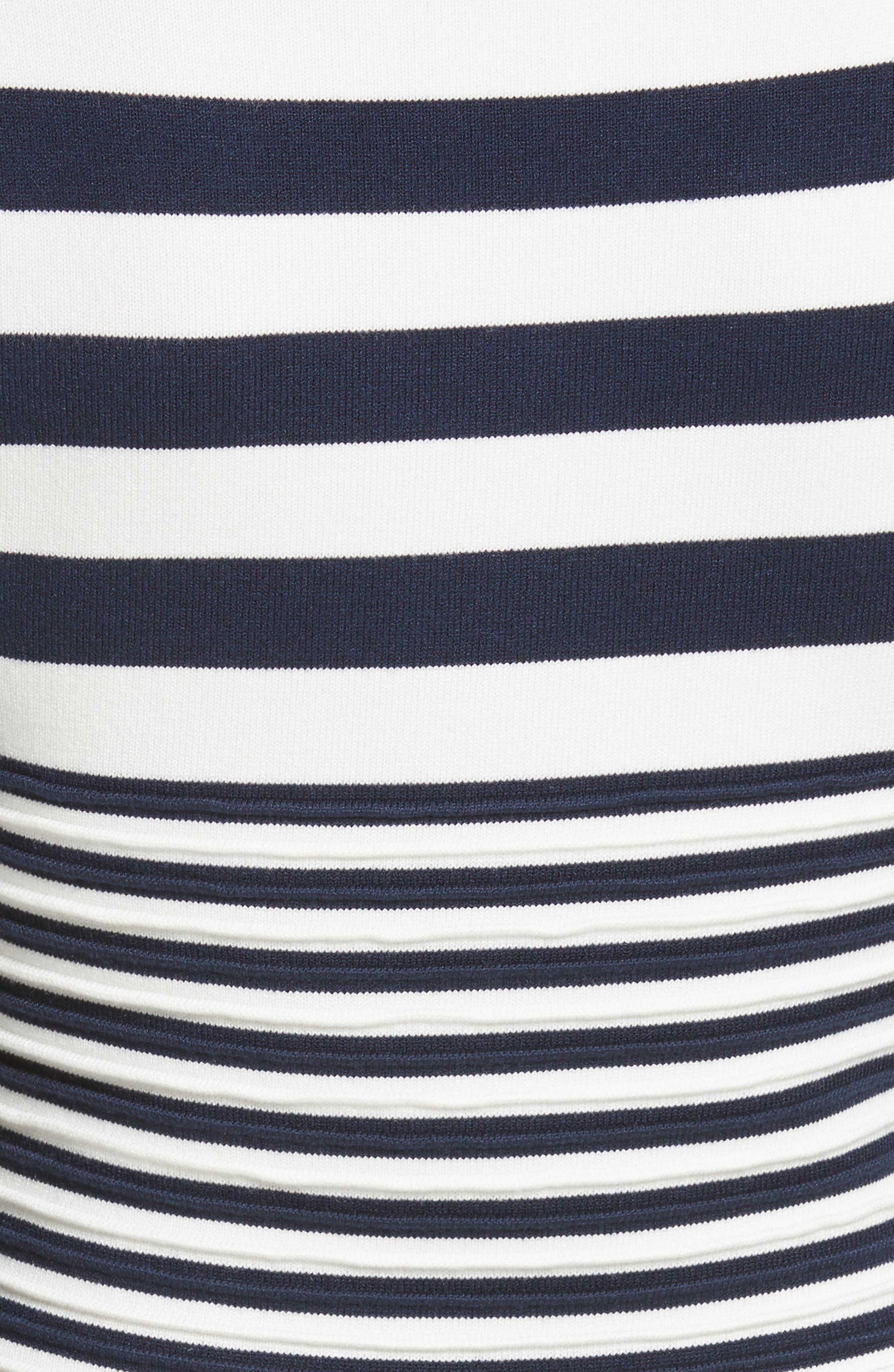 Striped Ottoman Fit & Flare Dress,                             Alternate thumbnail 5, color,                             155
