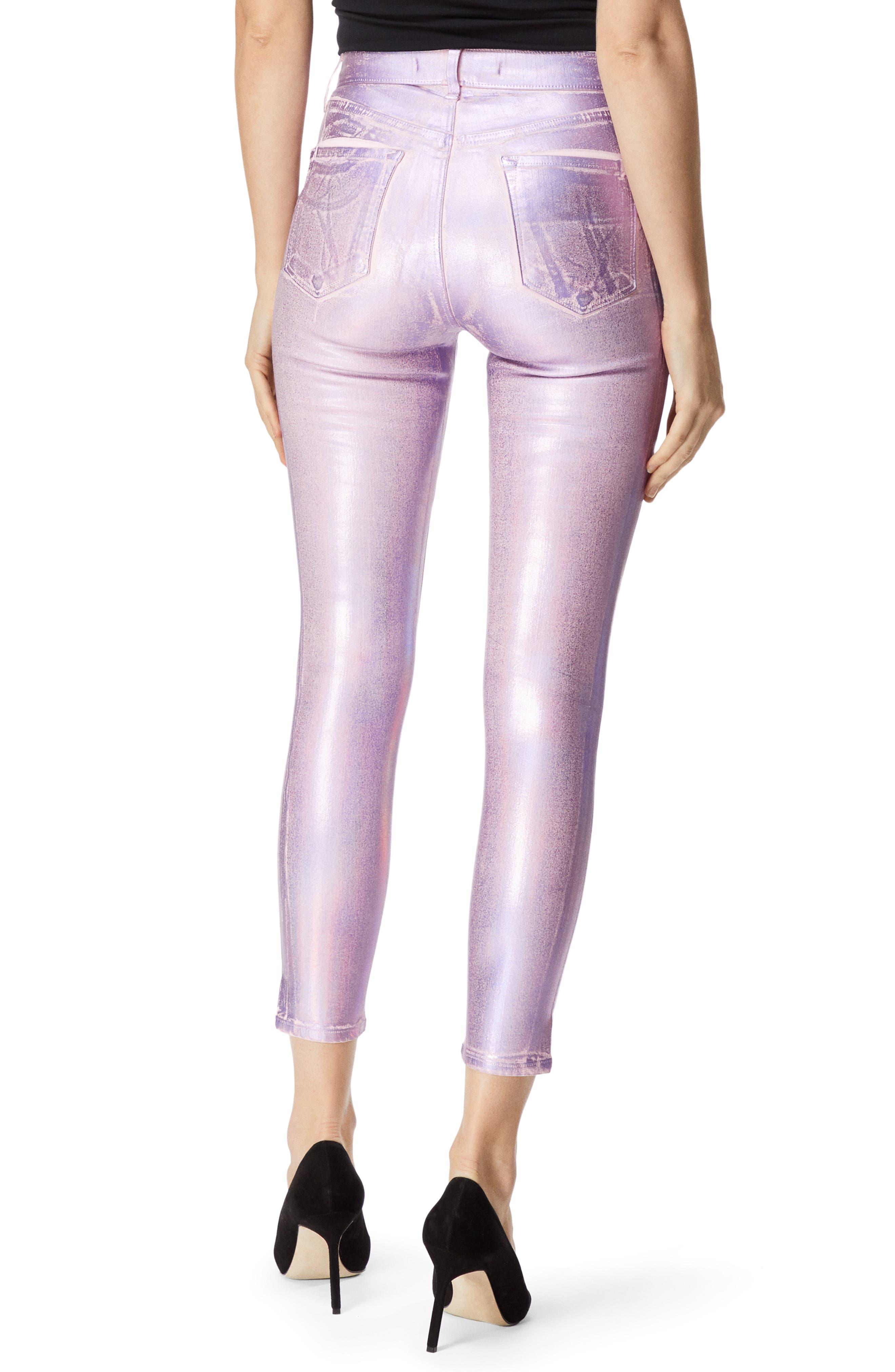 Alana High Waist Crop Skinny Jeans,                             Alternate thumbnail 2, color,                             PINK PRISM