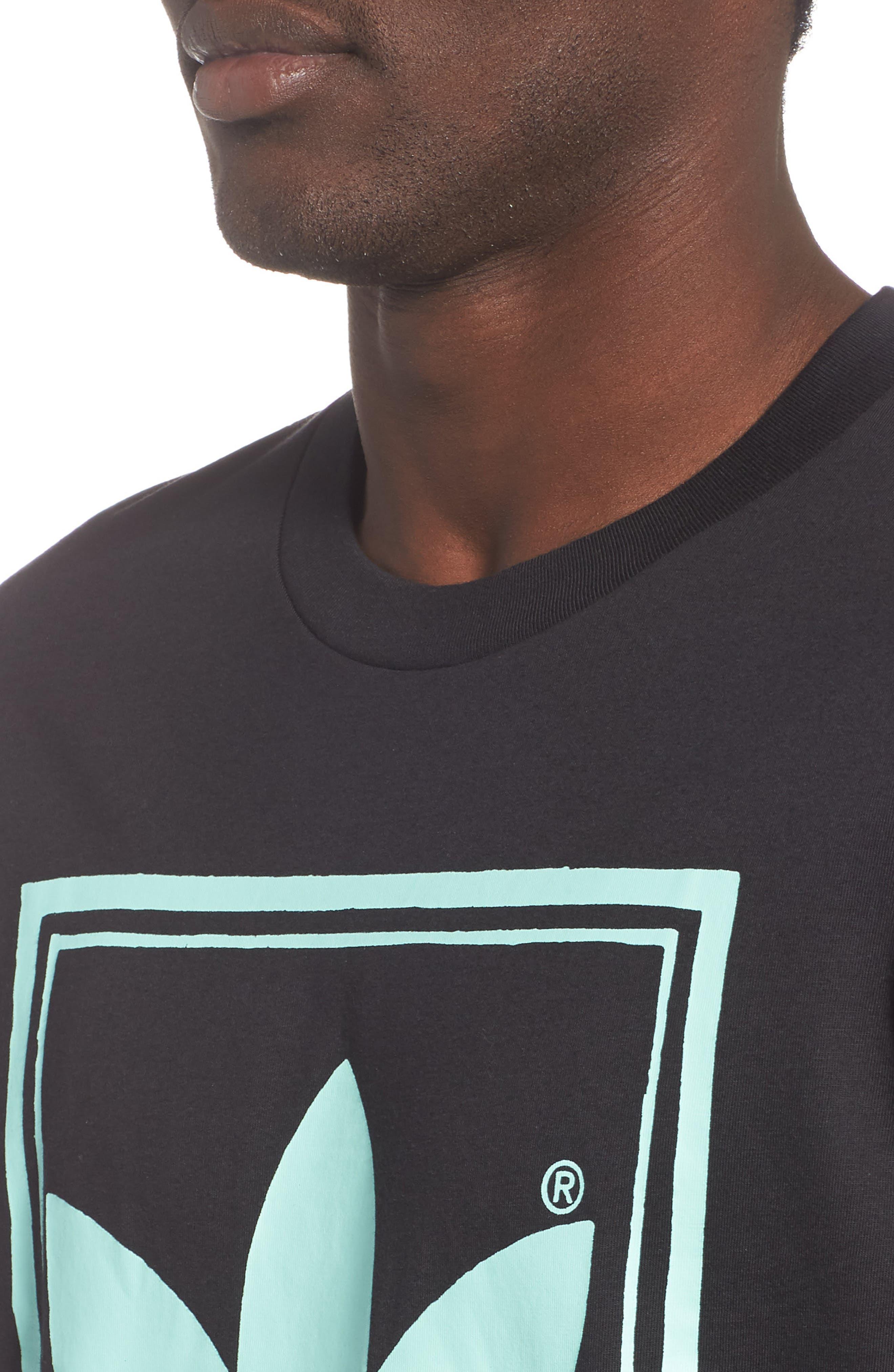 Vintage Logo Graphic T-Shirt,                             Alternate thumbnail 4, color,                             BLACK