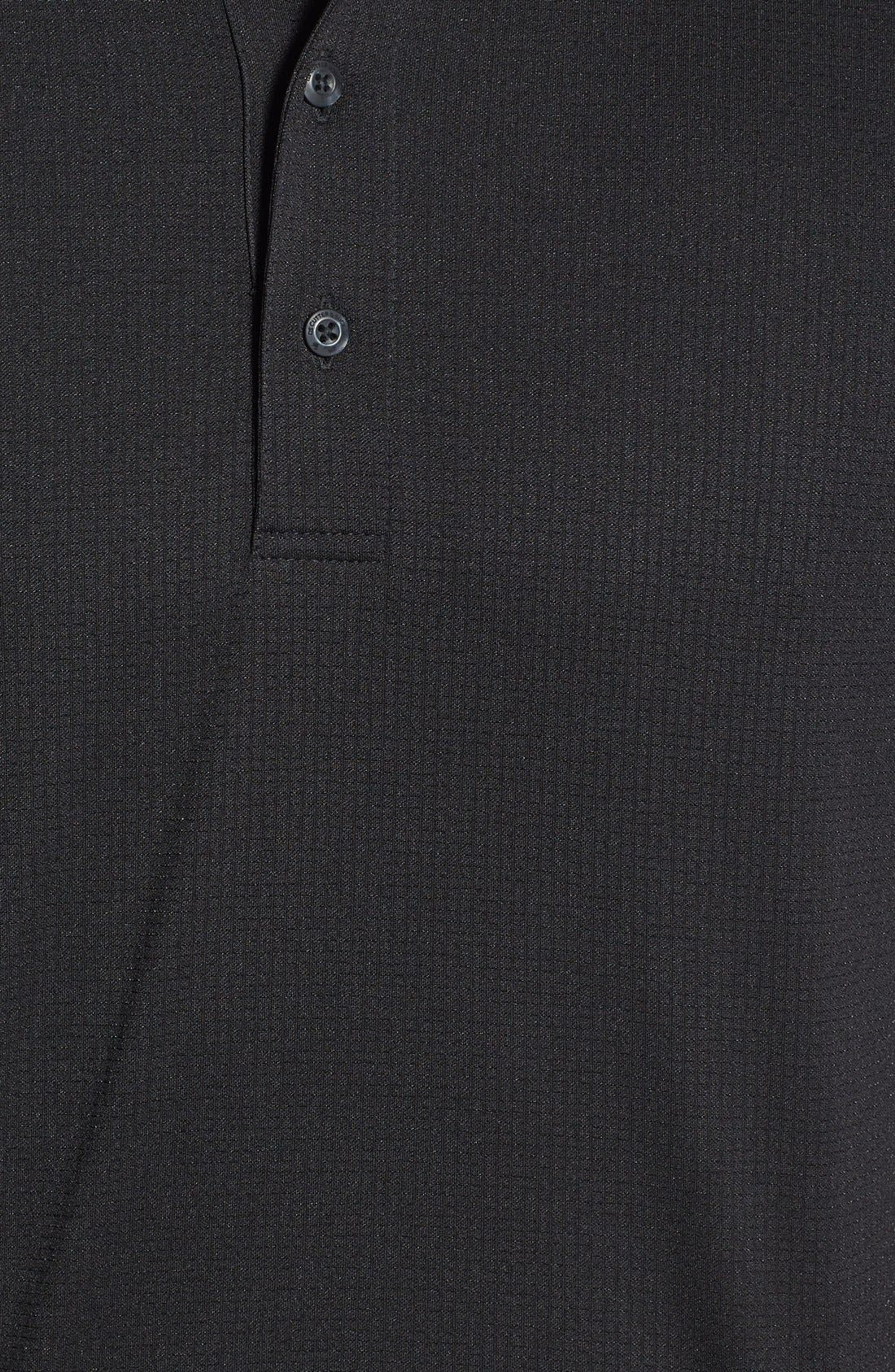 'Genre' DryTec Moisture Wicking Polo,                             Alternate thumbnail 3, color,                             BLACK