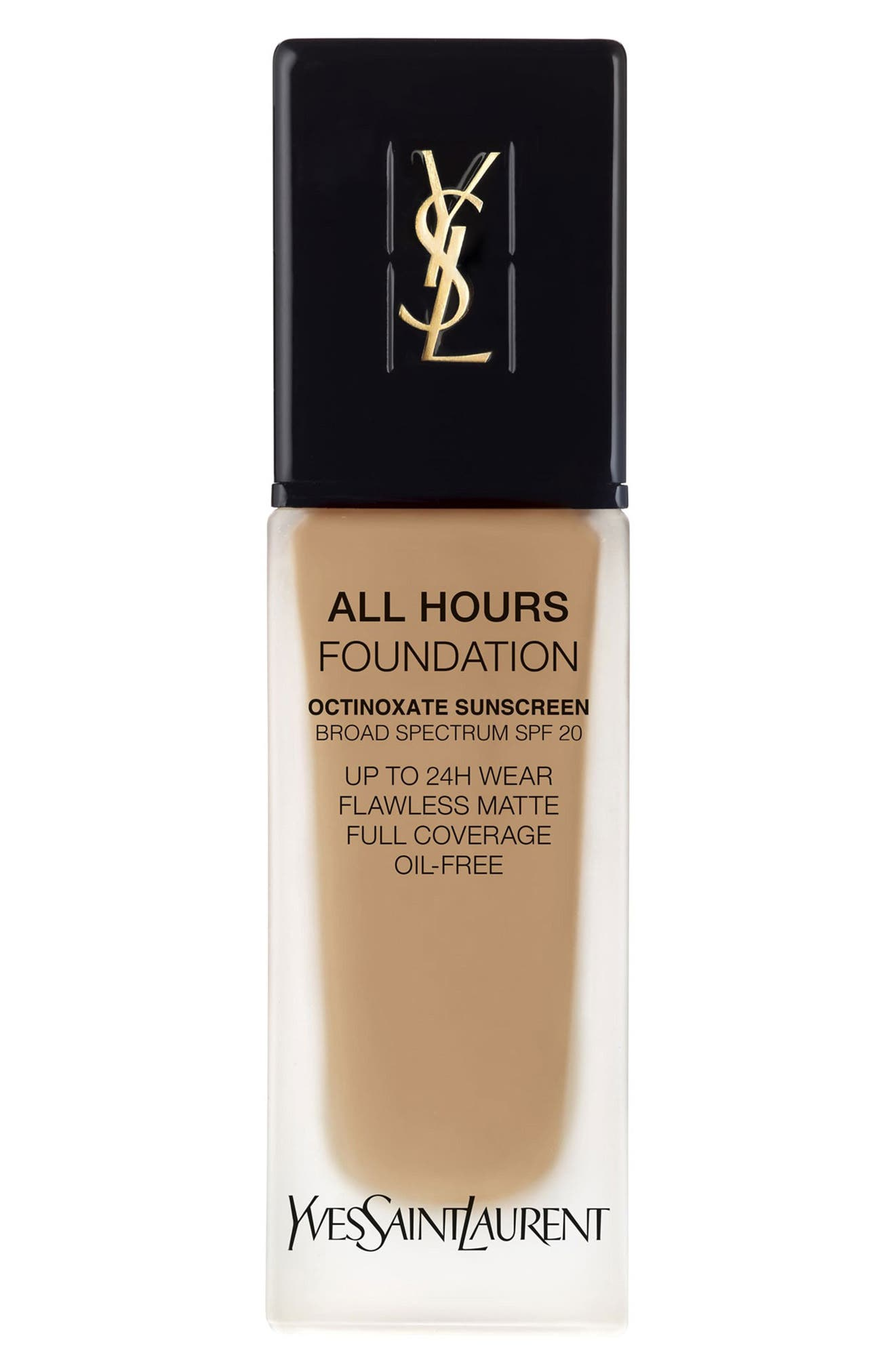 Yves Saint Laurent All Hours Full Coverage Matte Foundation Spf 20 - Bd55 Warm Toffee
