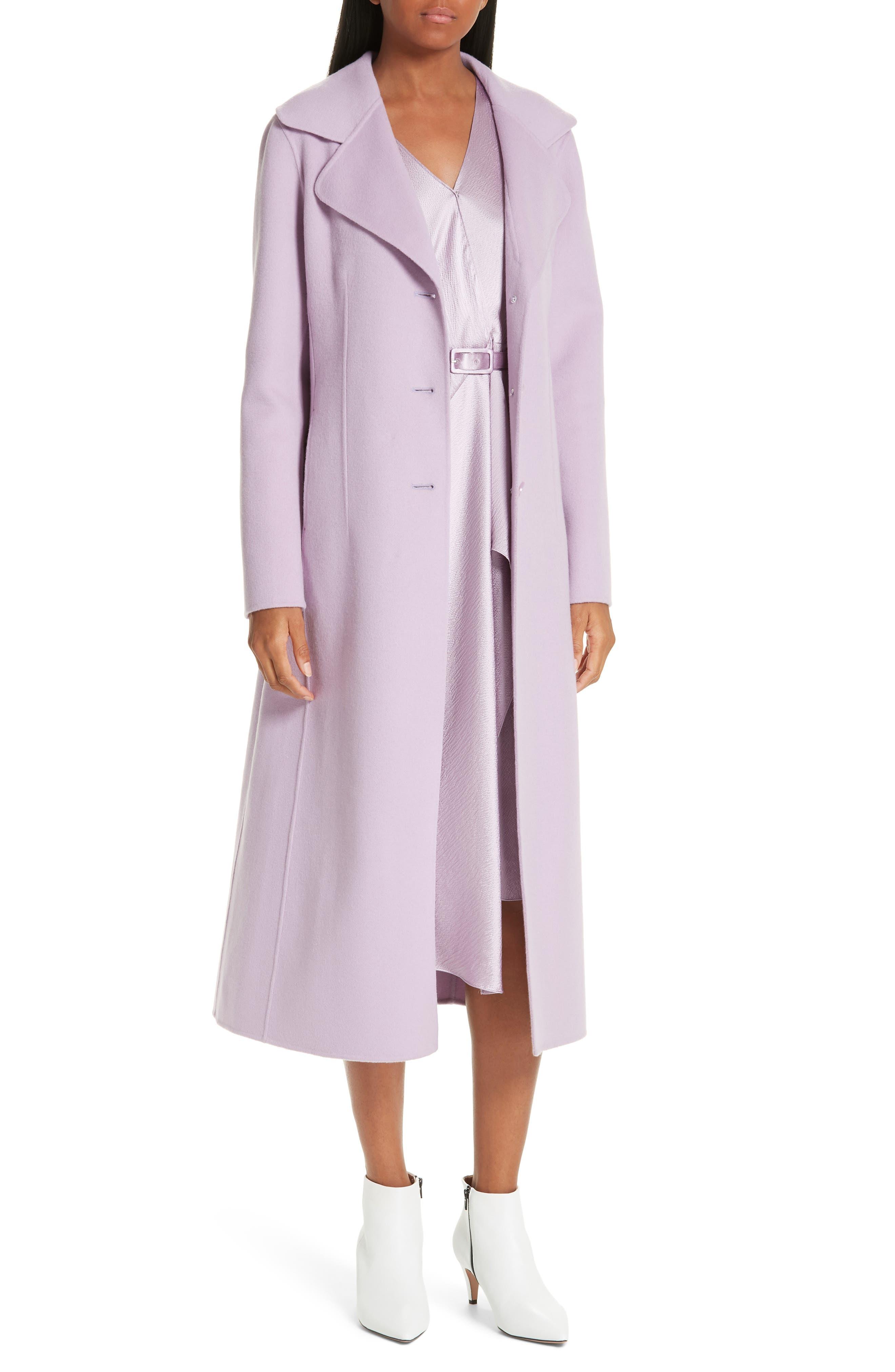 Double Face Wool & Cashmere Coat,                         Main,                         color, PURPLE MIST