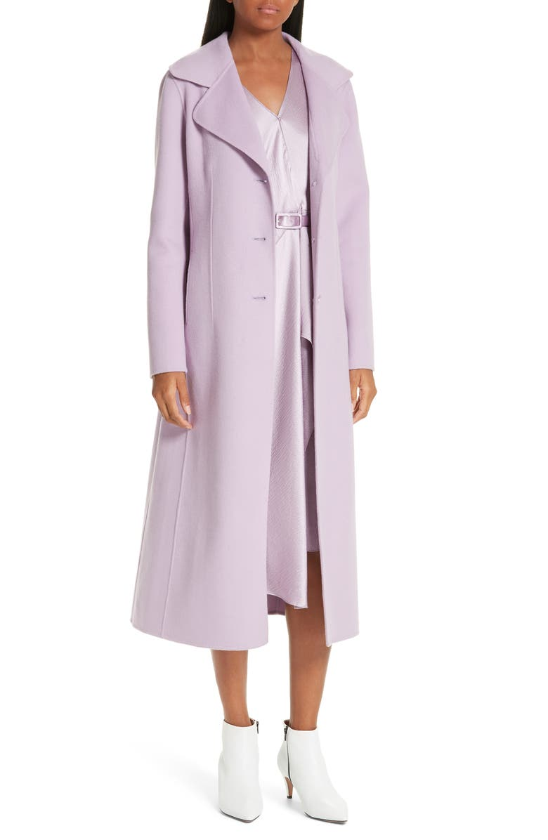 Double Face Wool & Cashmere Coat,                         Main,                         color, PURPLE MIST