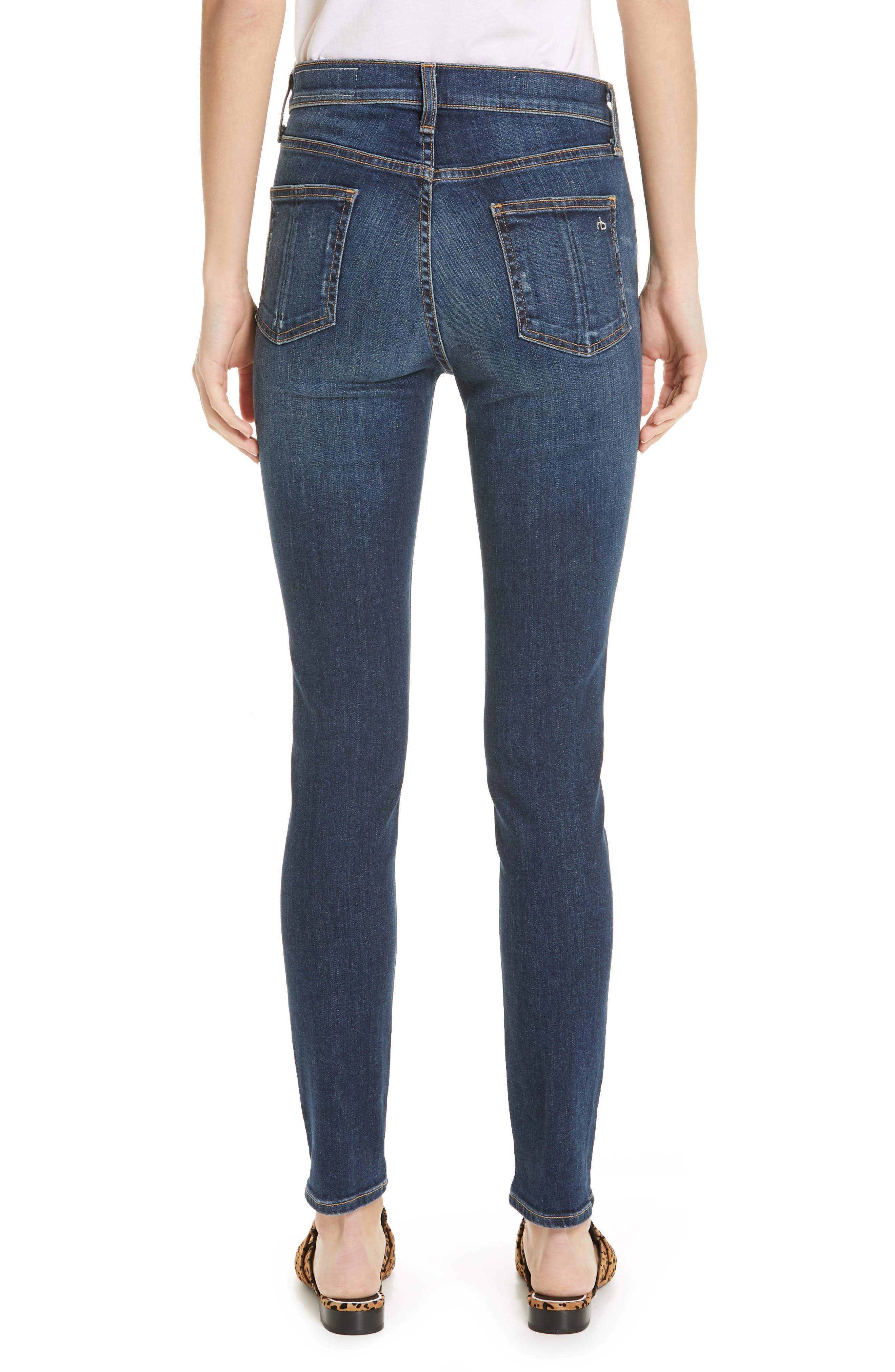Ripped High Waist Skinny Jeans,                             Alternate thumbnail 2, color,                             ELTON