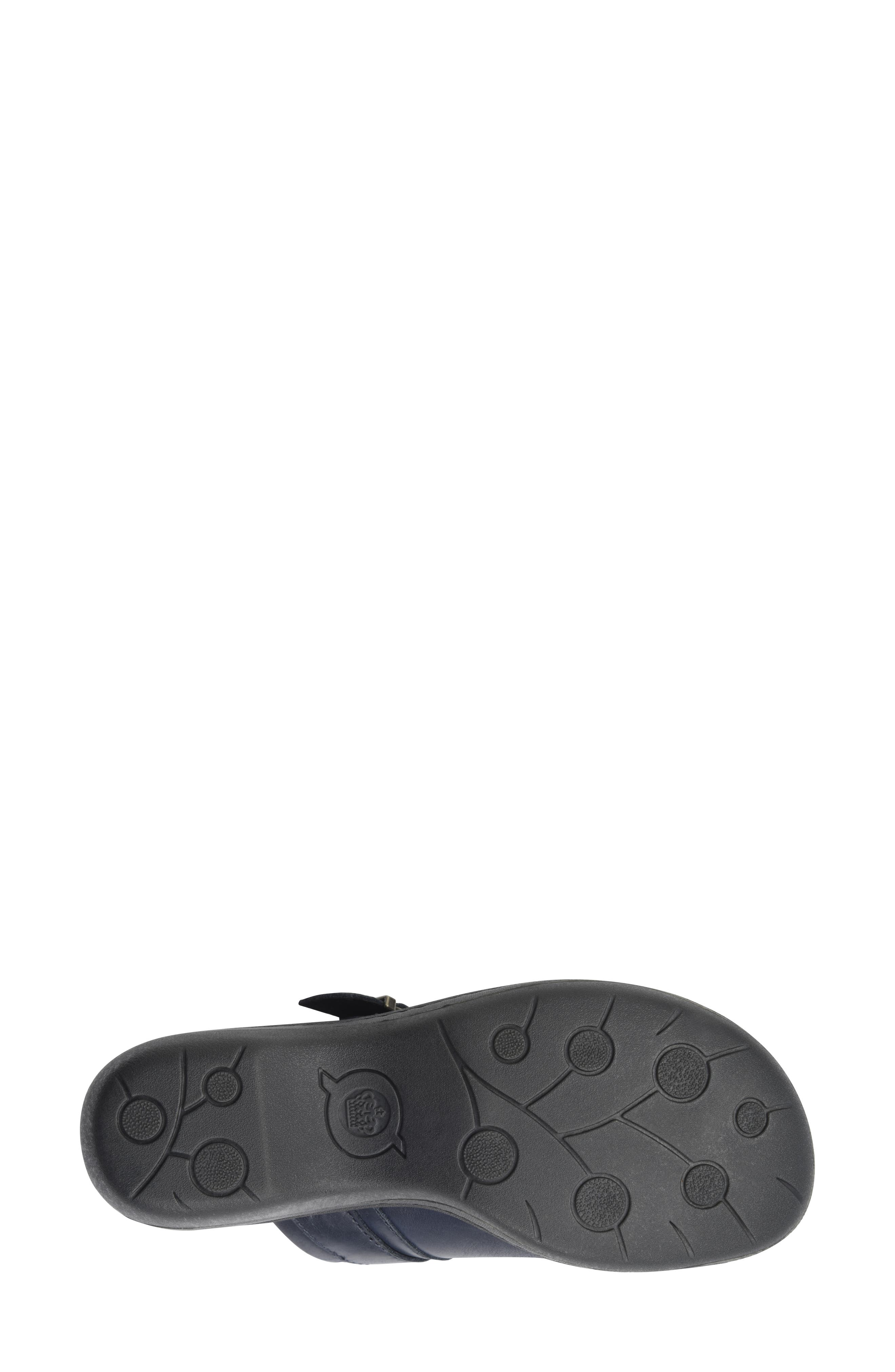 Avoca Clog,                             Alternate thumbnail 6, color,                             NAVY LEATHER