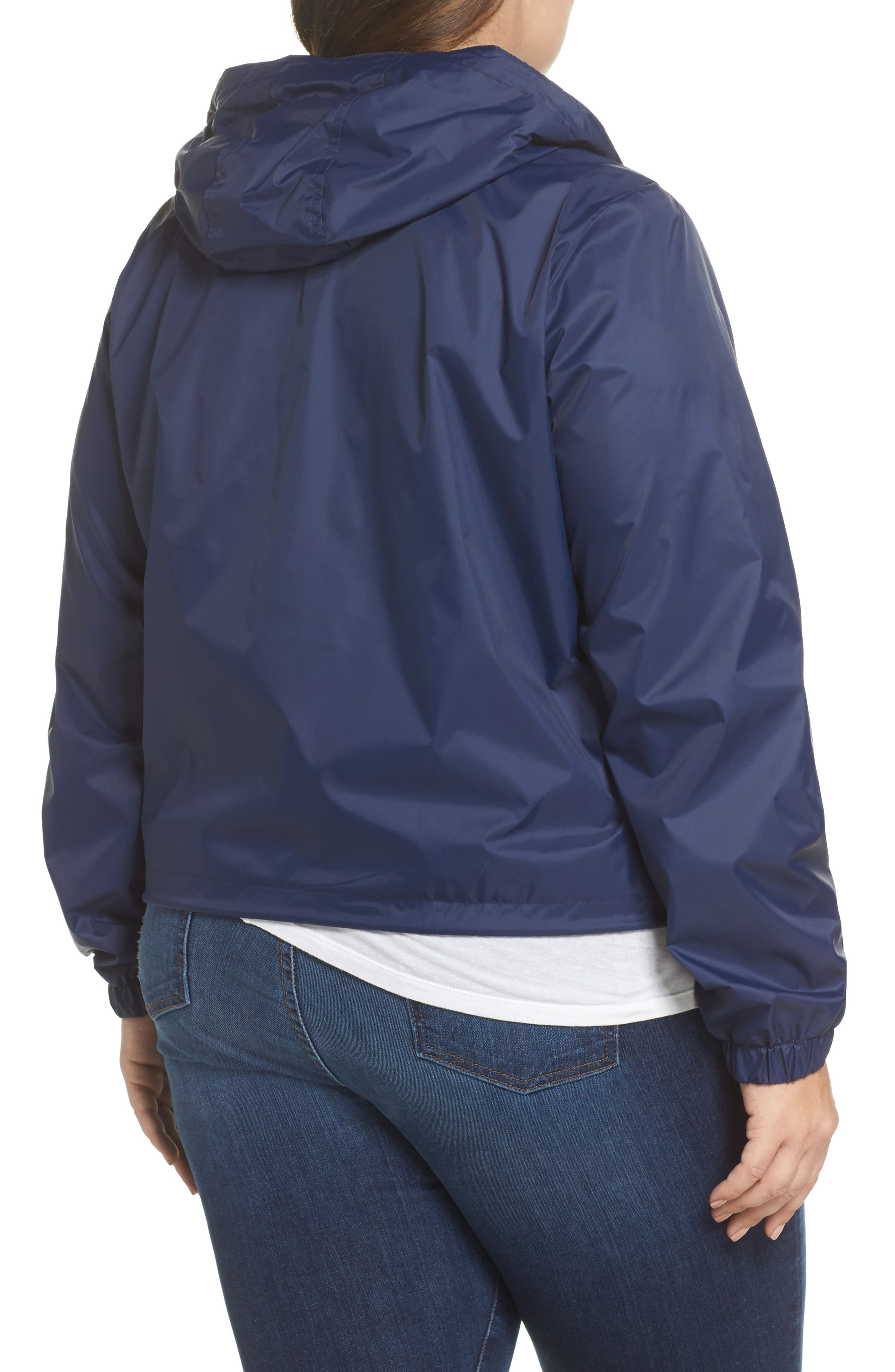 Retro Hooded Coach's Jacket,                             Alternate thumbnail 6, color,
