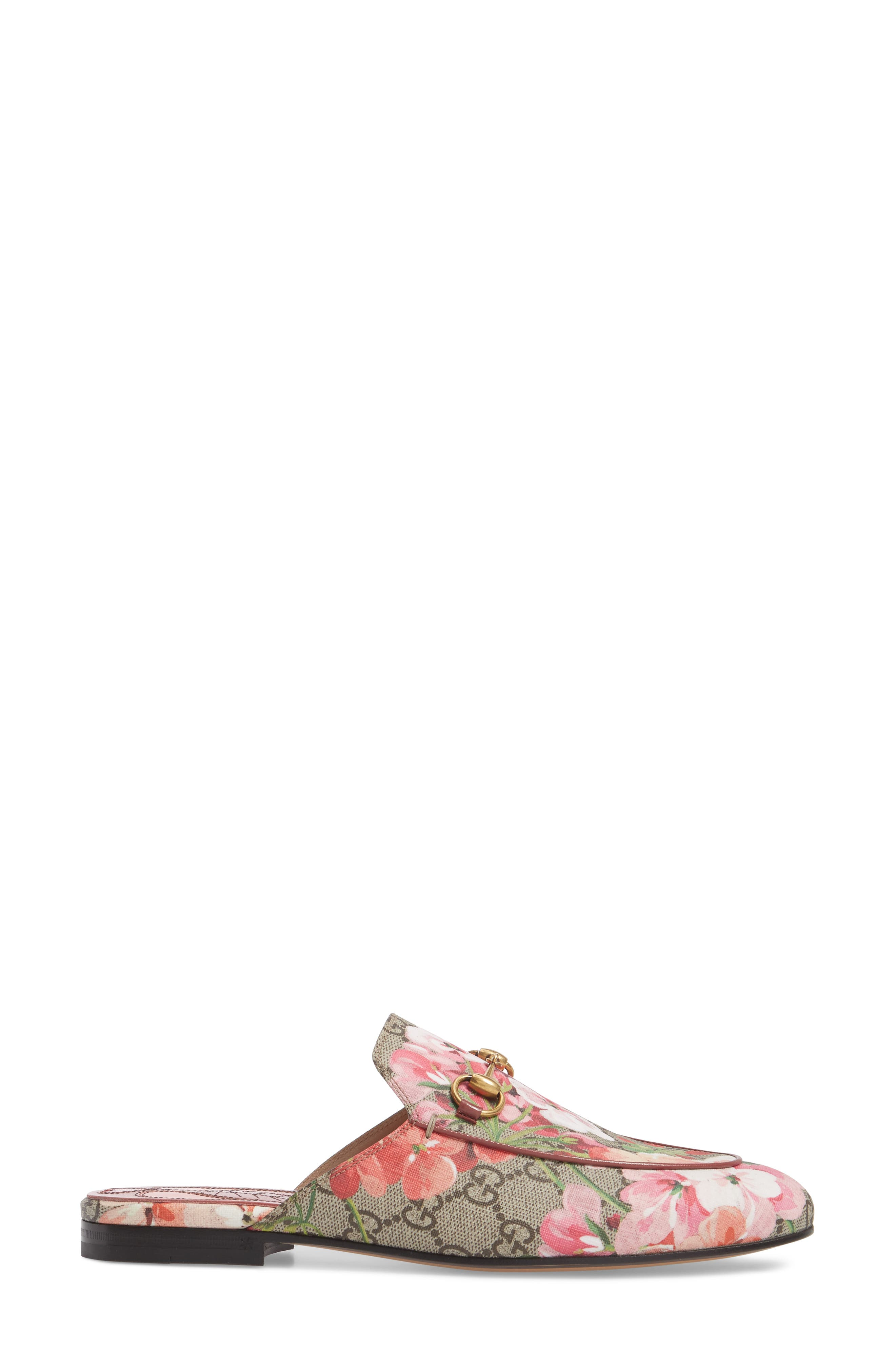 Princetown Loafer Mule,                             Alternate thumbnail 3, color,                             BEIGE/ FLORAL PRINT