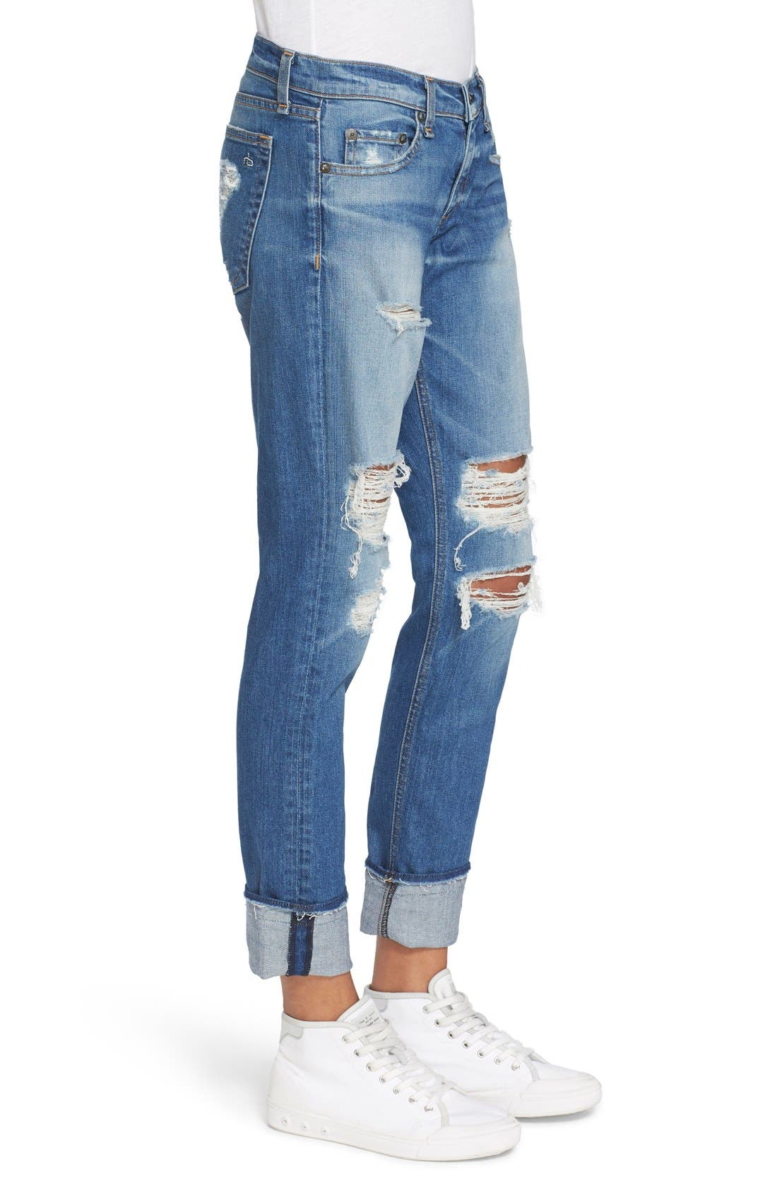 'The Dre' Slim Fit Boyfriend Jeans,                             Alternate thumbnail 2, color,                             429
