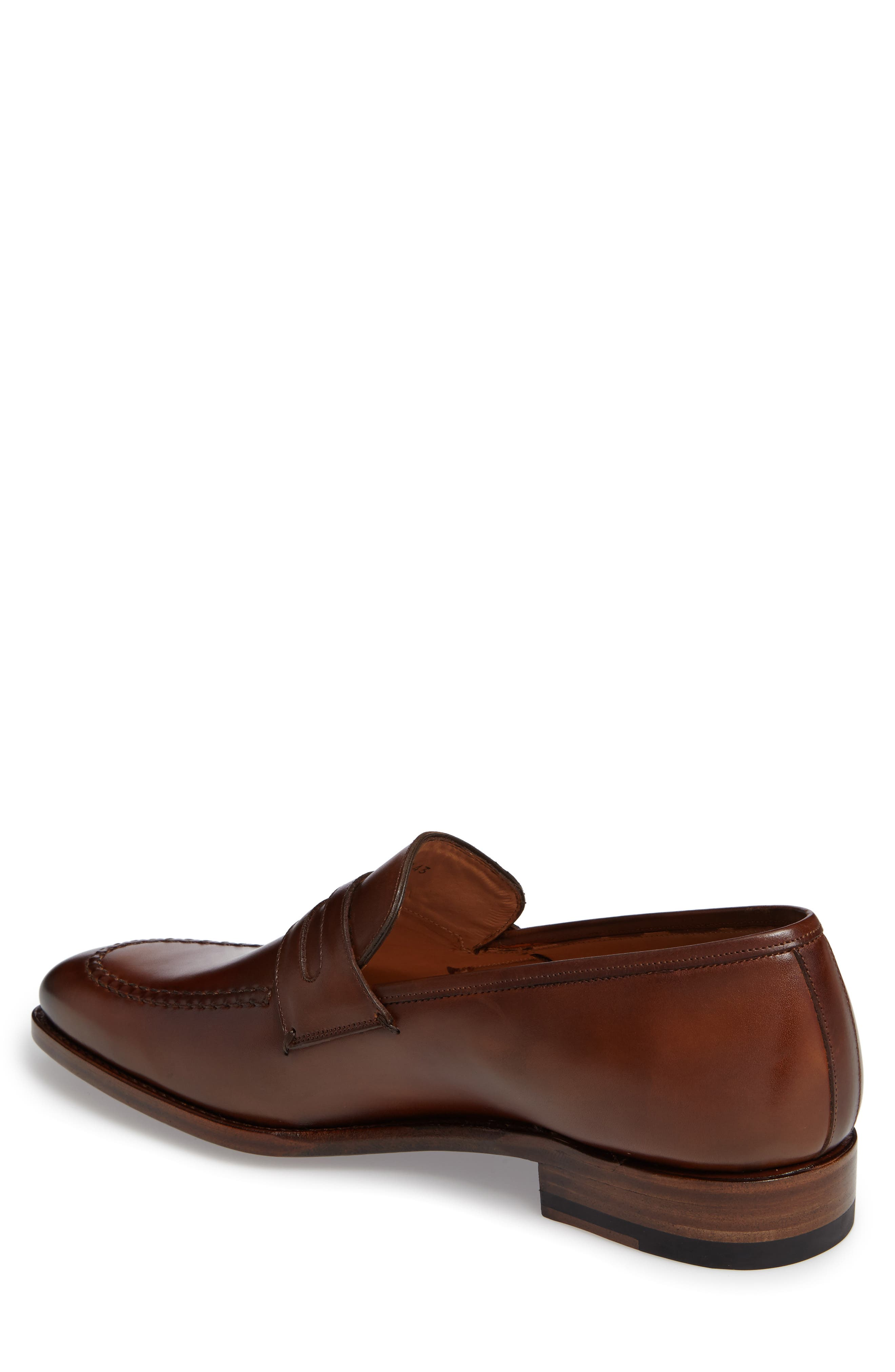 by Mezlan G124 Apron Toe Loafer,                             Alternate thumbnail 2, color,                             COGNAC