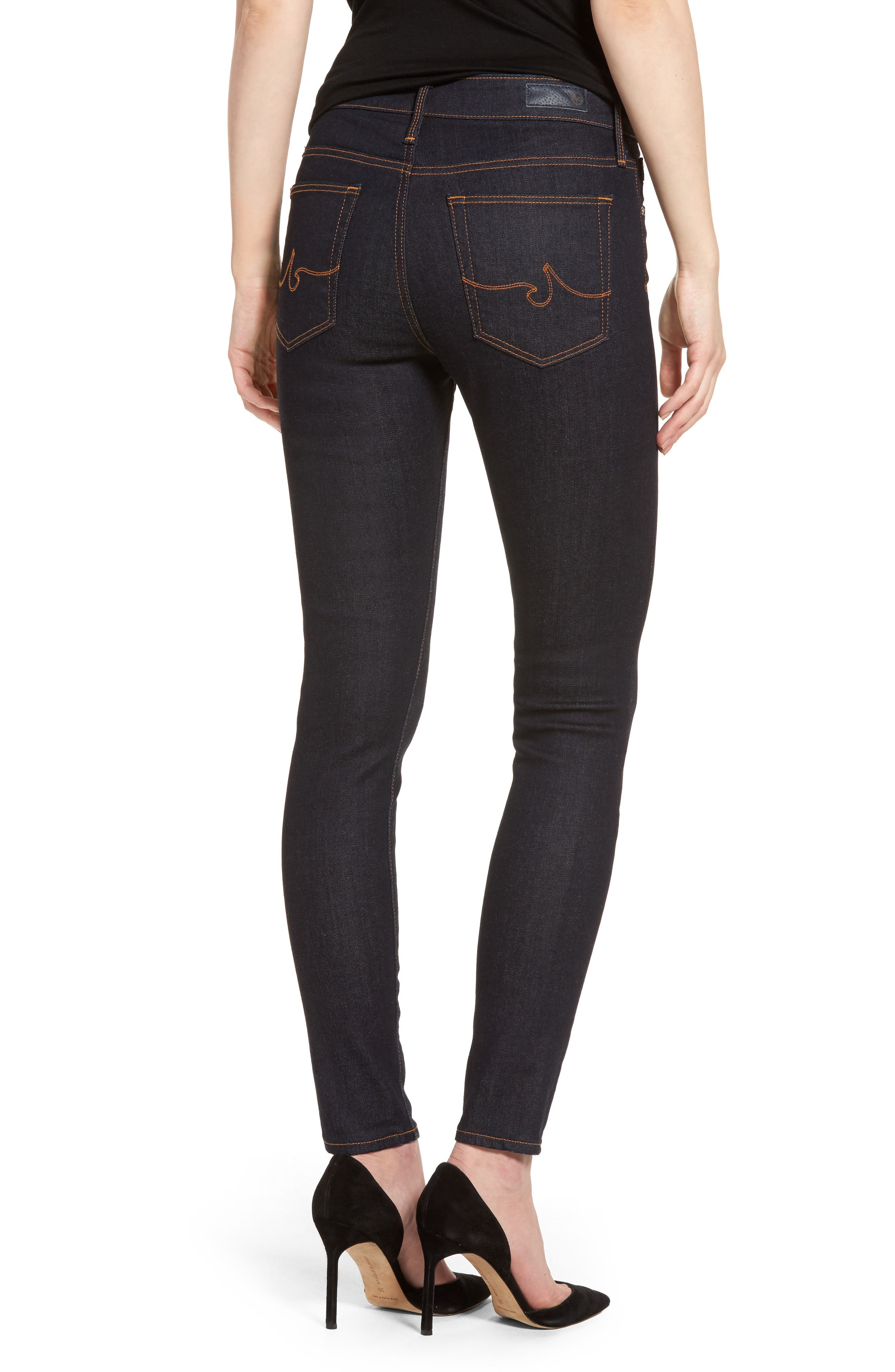 The Farrah Ankle Skinny Jeans,                             Alternate thumbnail 2, color,                             INDIGO SPRING