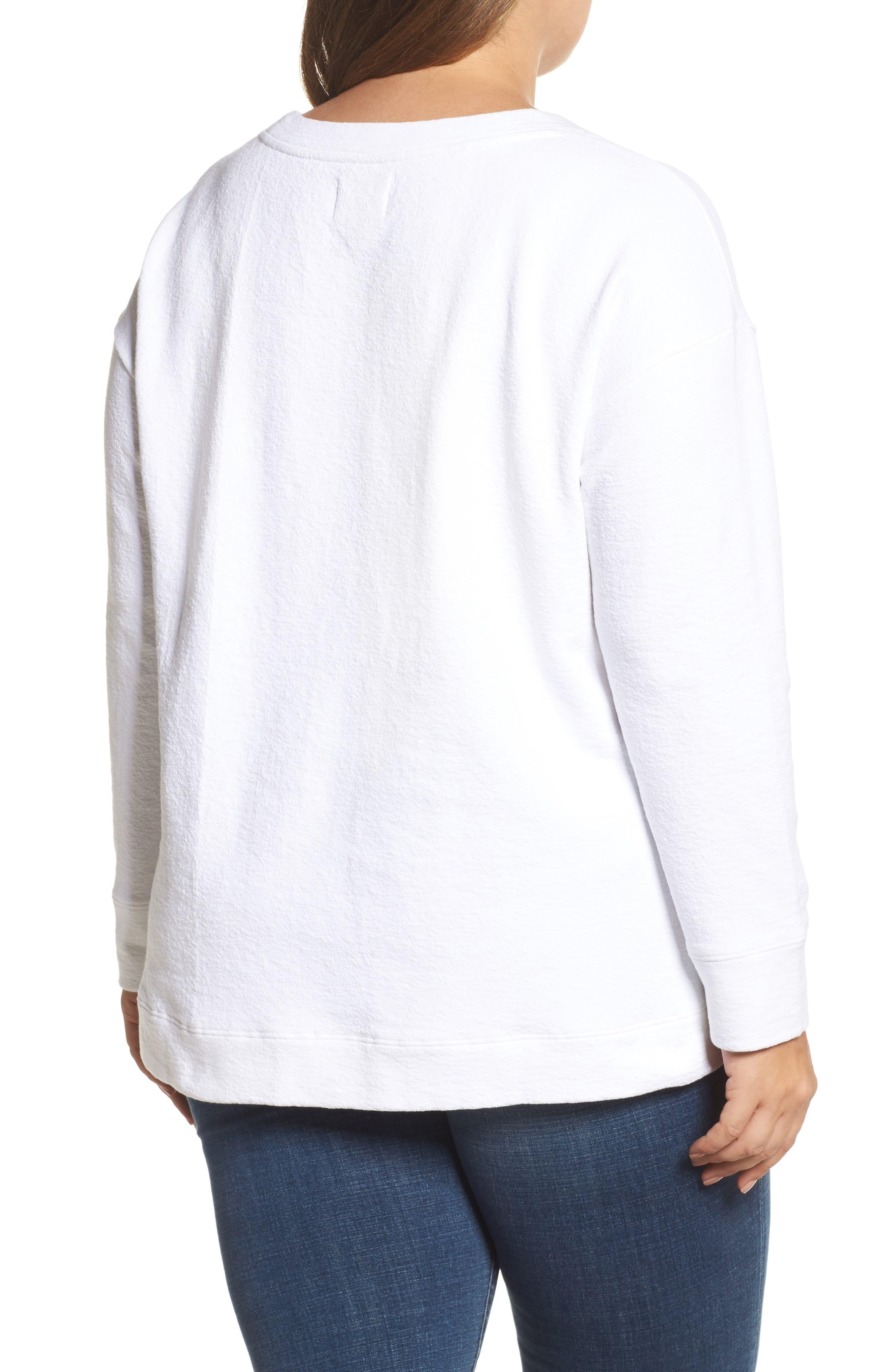 Side Slit Sweatshirt,                             Alternate thumbnail 2, color,                             100