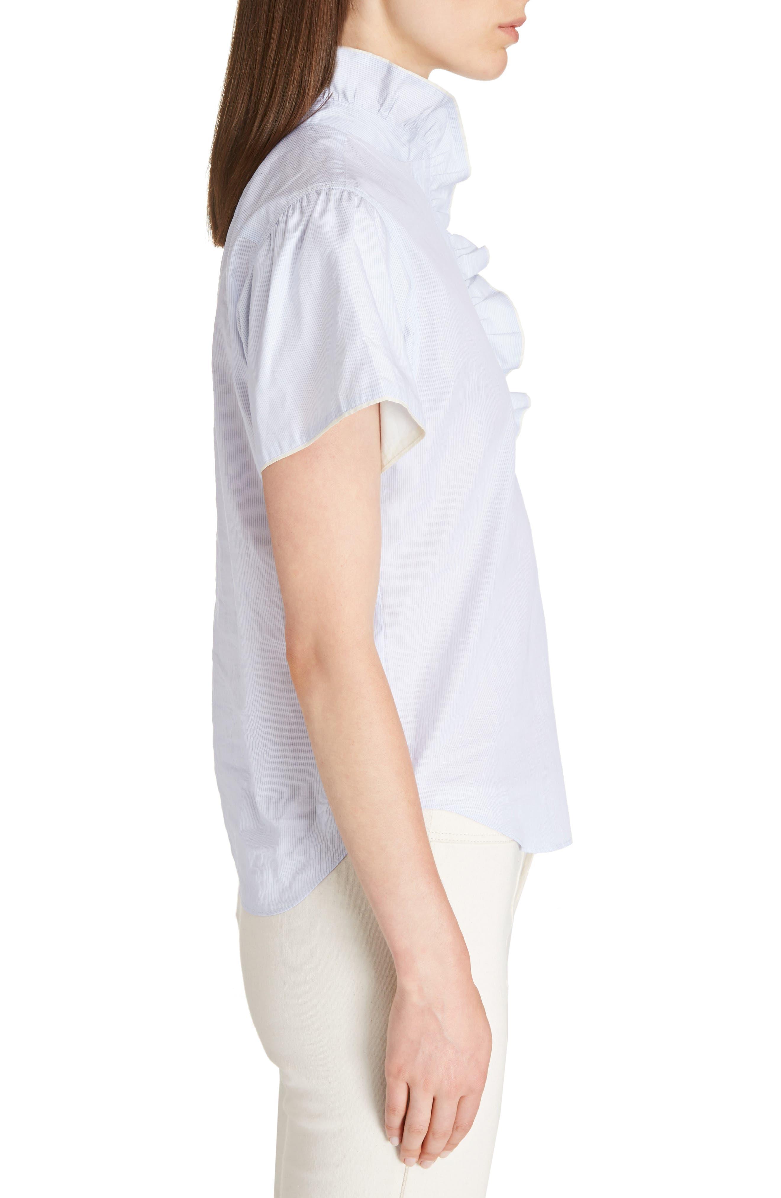 Jen Ruffle Cotton Top,                             Alternate thumbnail 3, color,                             400