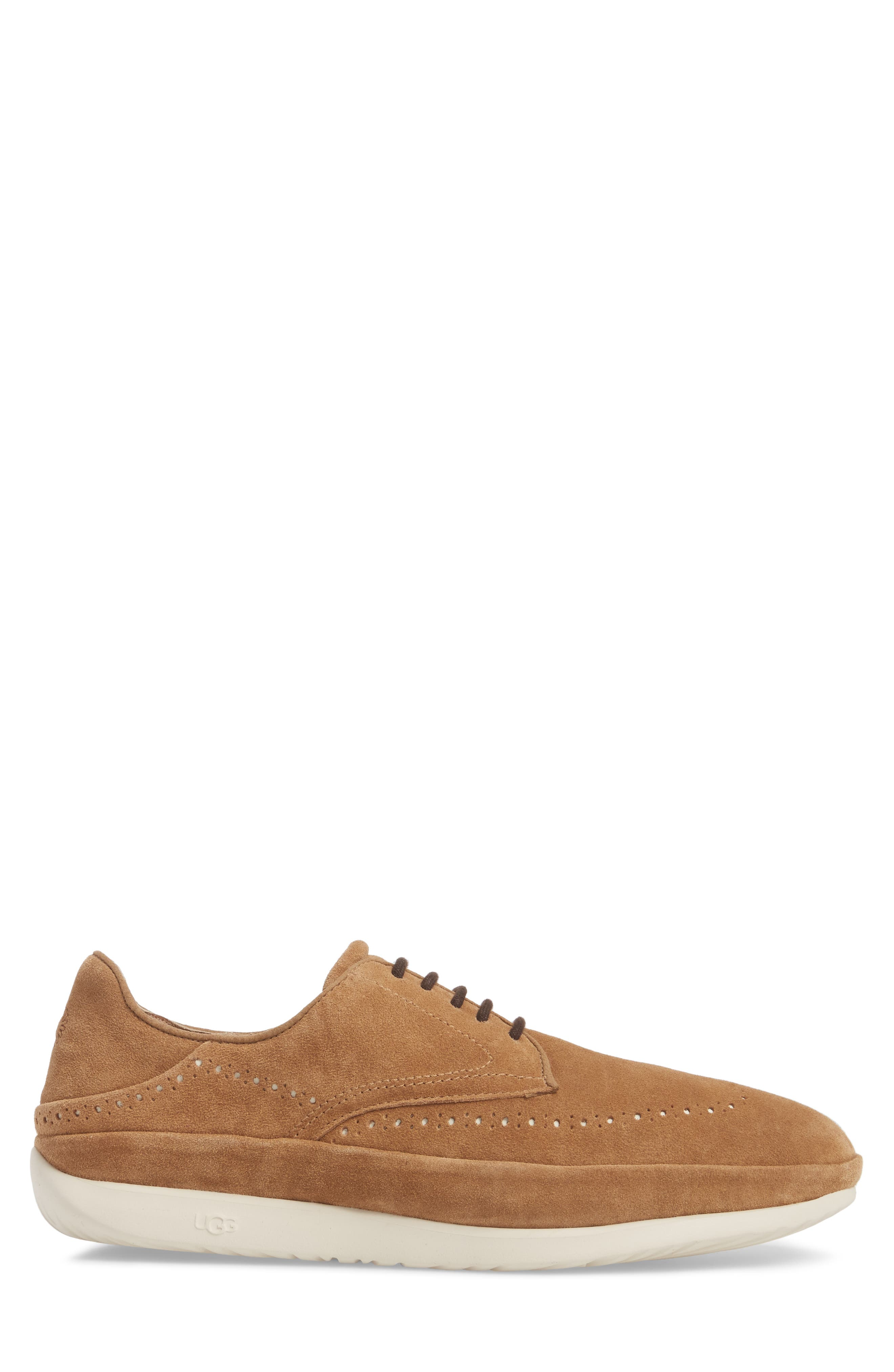 Cali Collapsible Wingtip Derby,                             Alternate thumbnail 3, color,                             CHESTNUT LEATHER