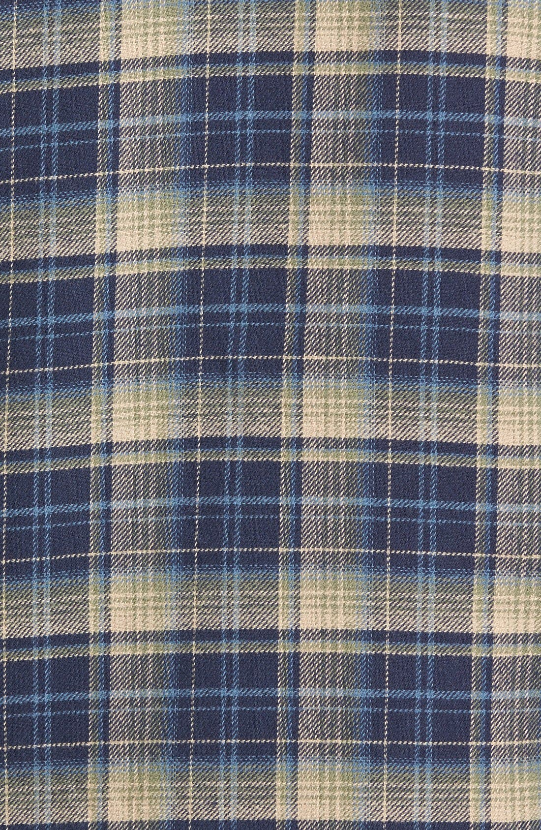 'Alford' Trim Fit Long Sleeve Plaid Hooded Shirt,                             Alternate thumbnail 4, color,