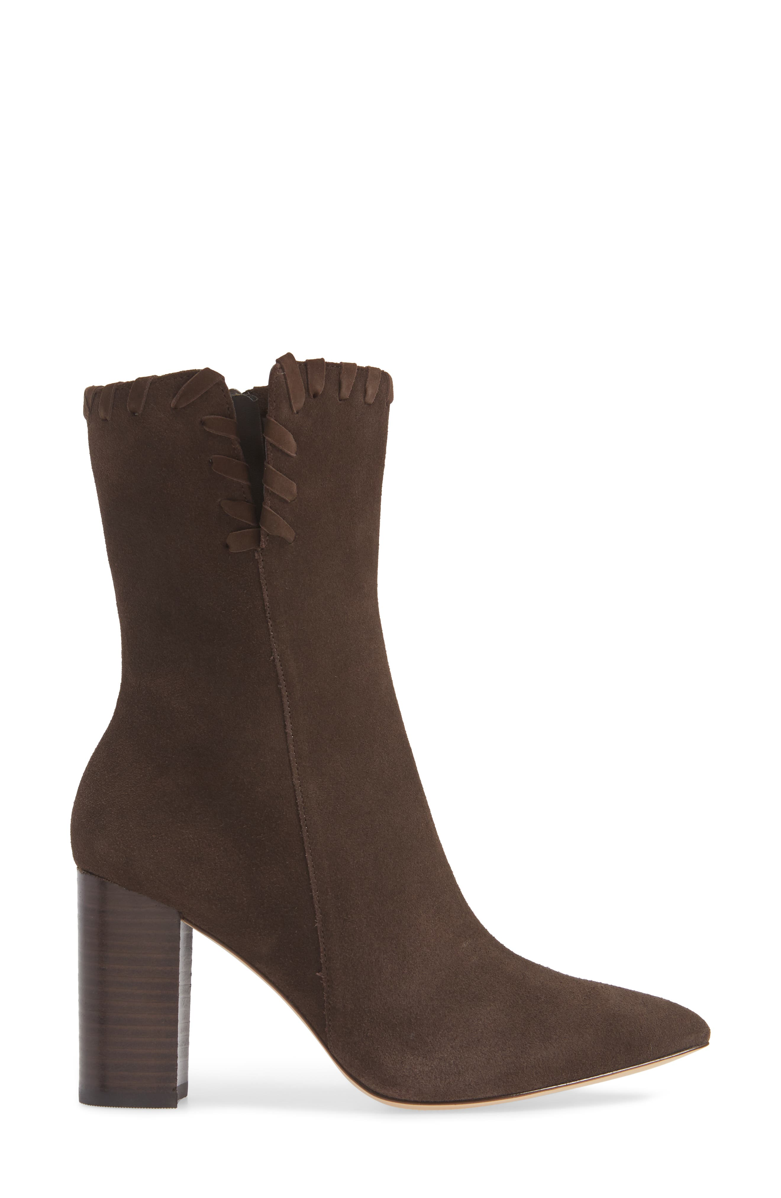 Camilla Bootie,                             Alternate thumbnail 3, color,                             CHOCOLATE SUEDE