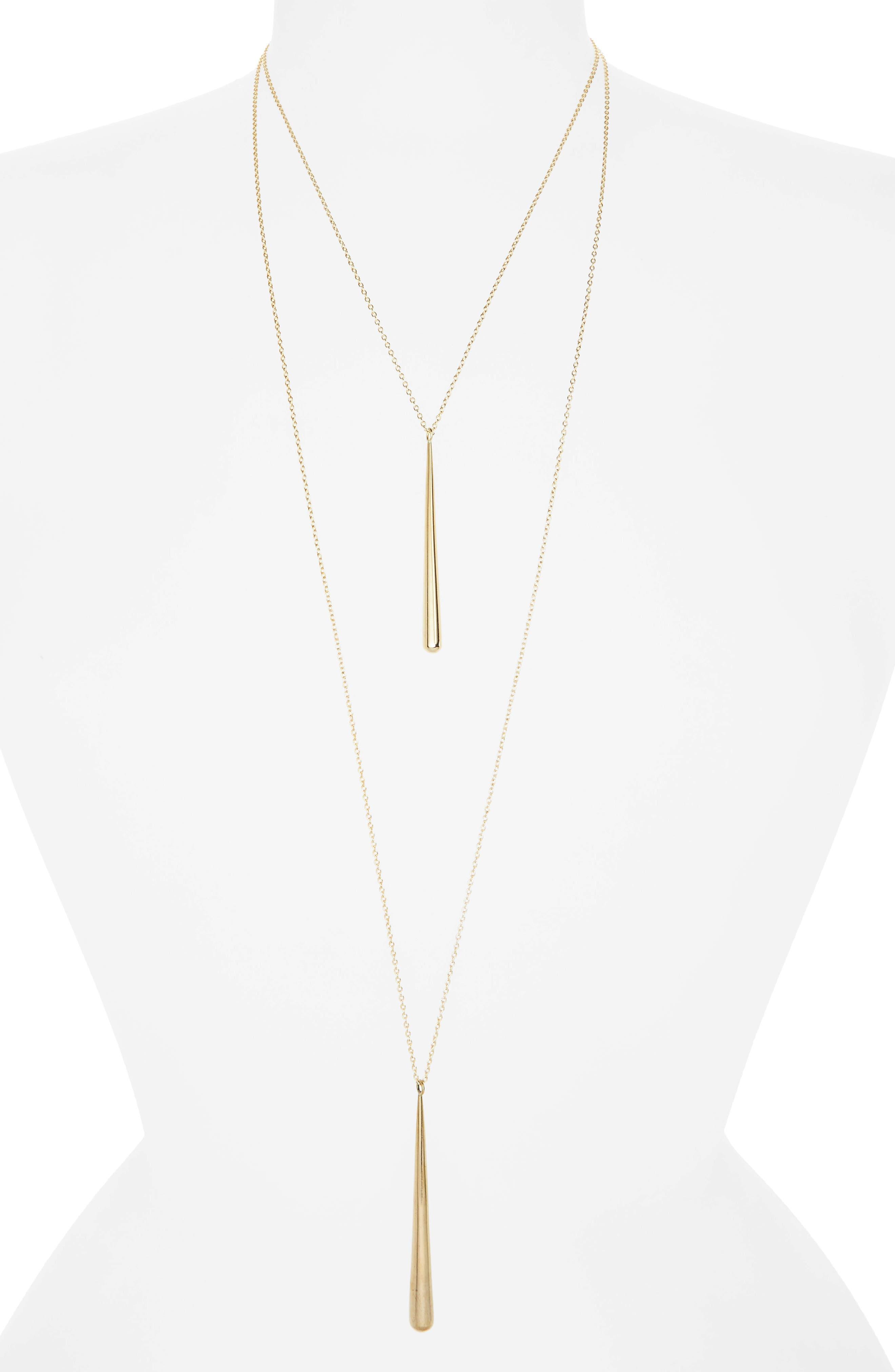 Pia Pendant Necklace,                         Main,                         color, BRASS