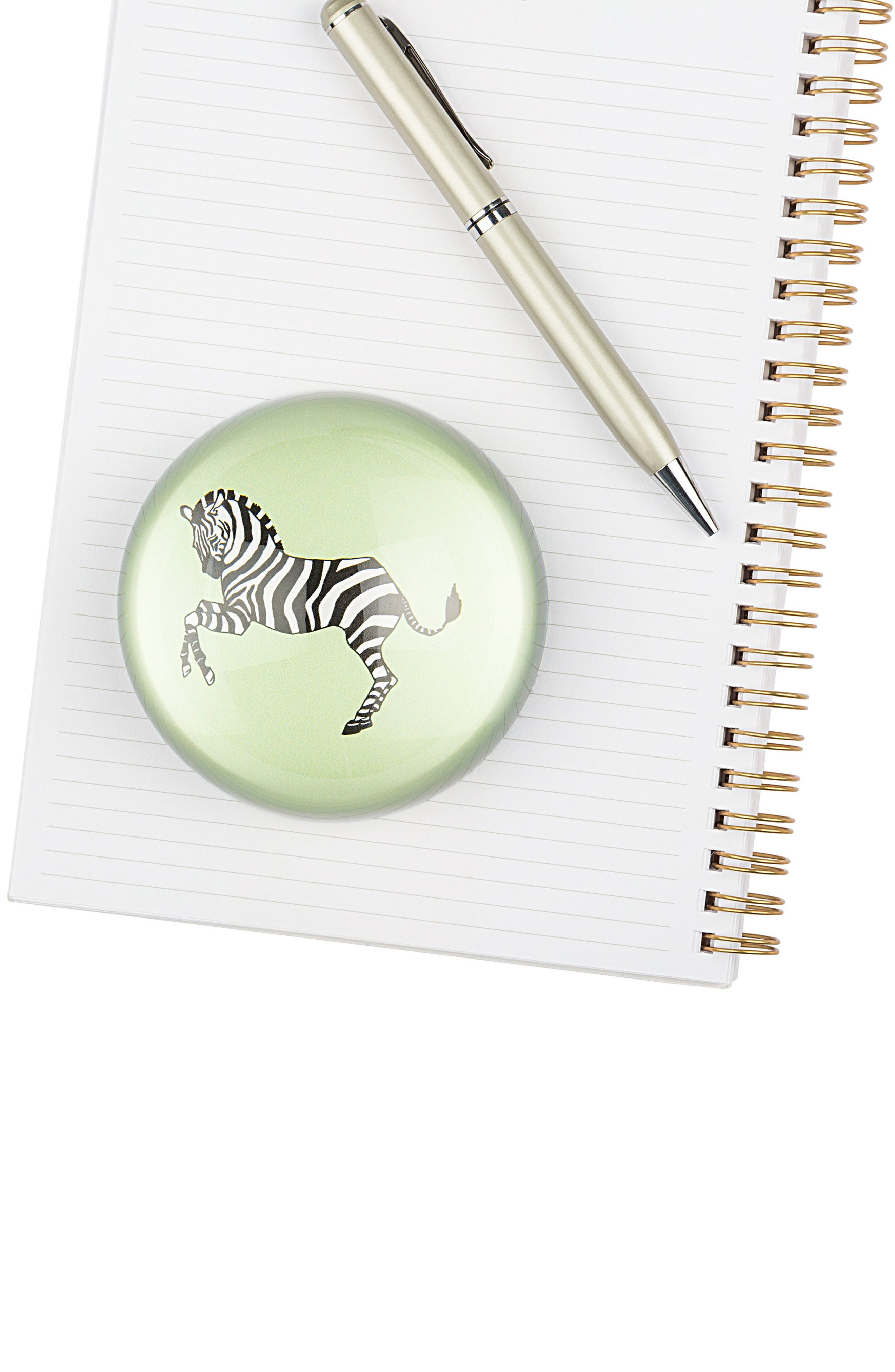 Zebra Domed Glass Paperweight,                             Alternate thumbnail 5, color,                             300