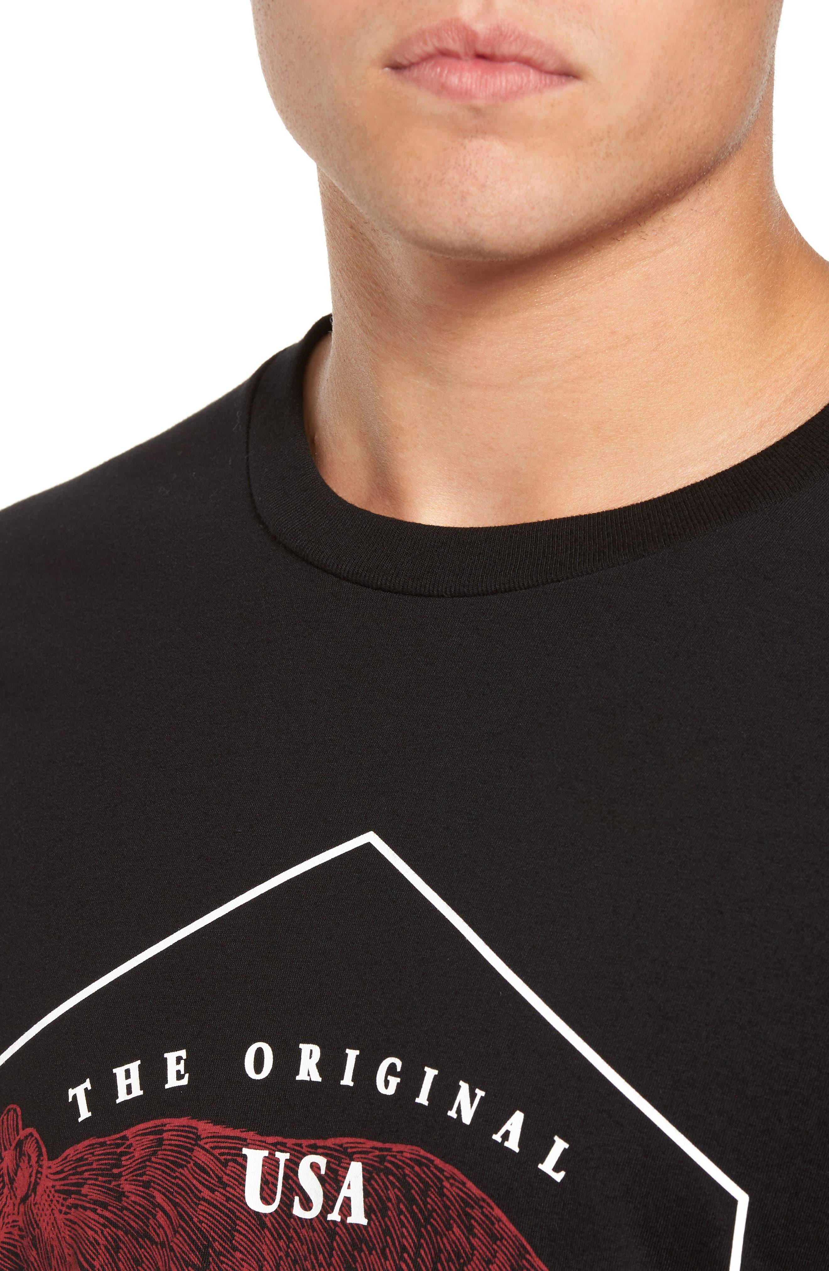Ranger Graphic T-Shirt,                             Alternate thumbnail 4, color,                             001
