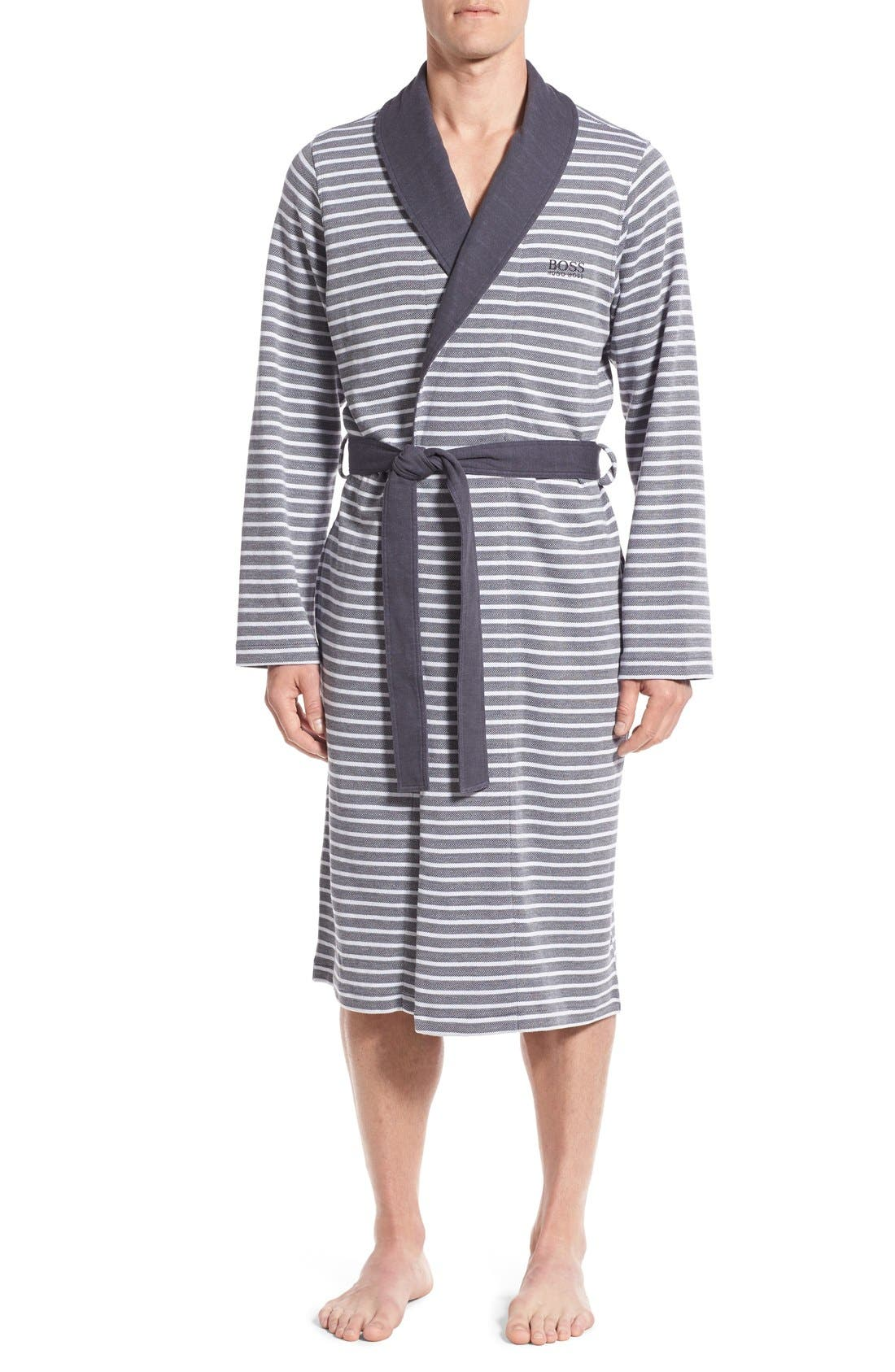 'Maritime' Shawl Collar Robe,                             Main thumbnail 1, color,                             407
