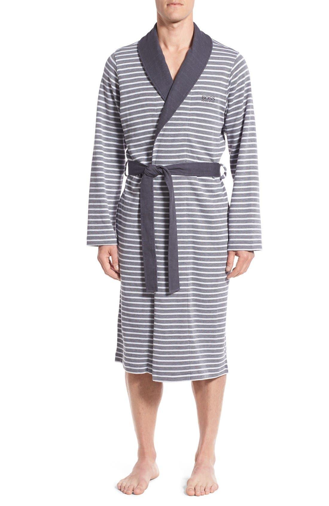 'Maritime' Shawl Collar Robe,                         Main,                         color, 407