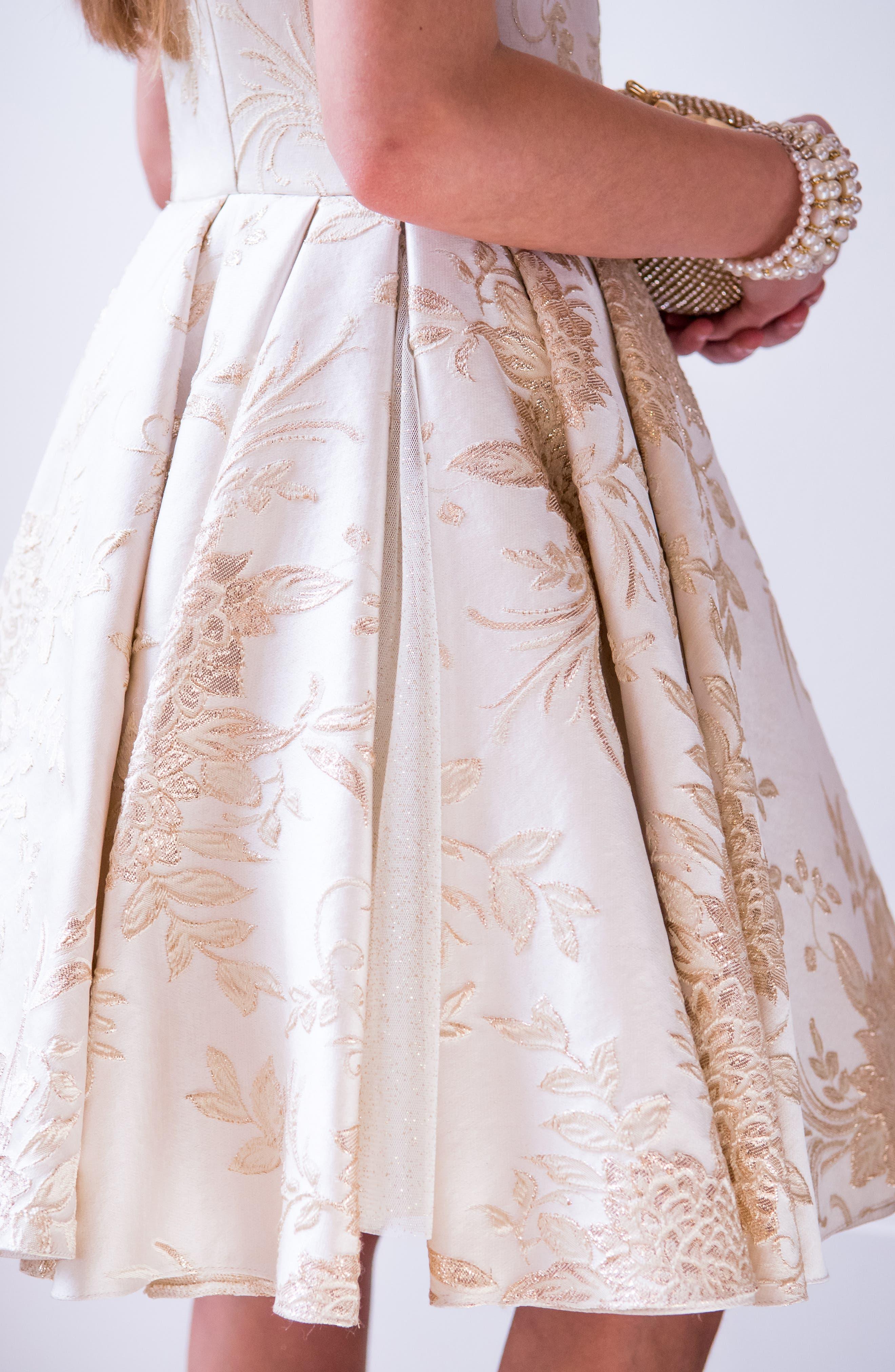 Brocade Dress,                             Alternate thumbnail 6, color,                             101