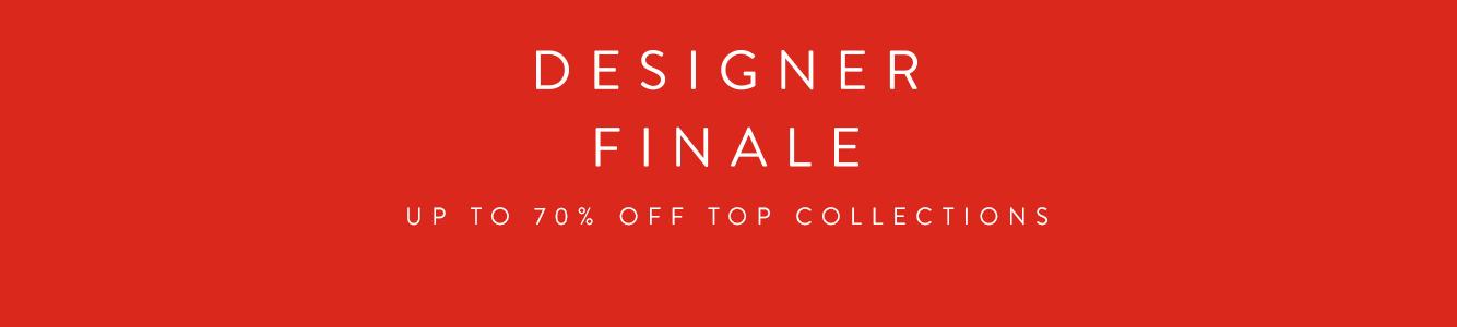Designer Finale: up to 70% off.