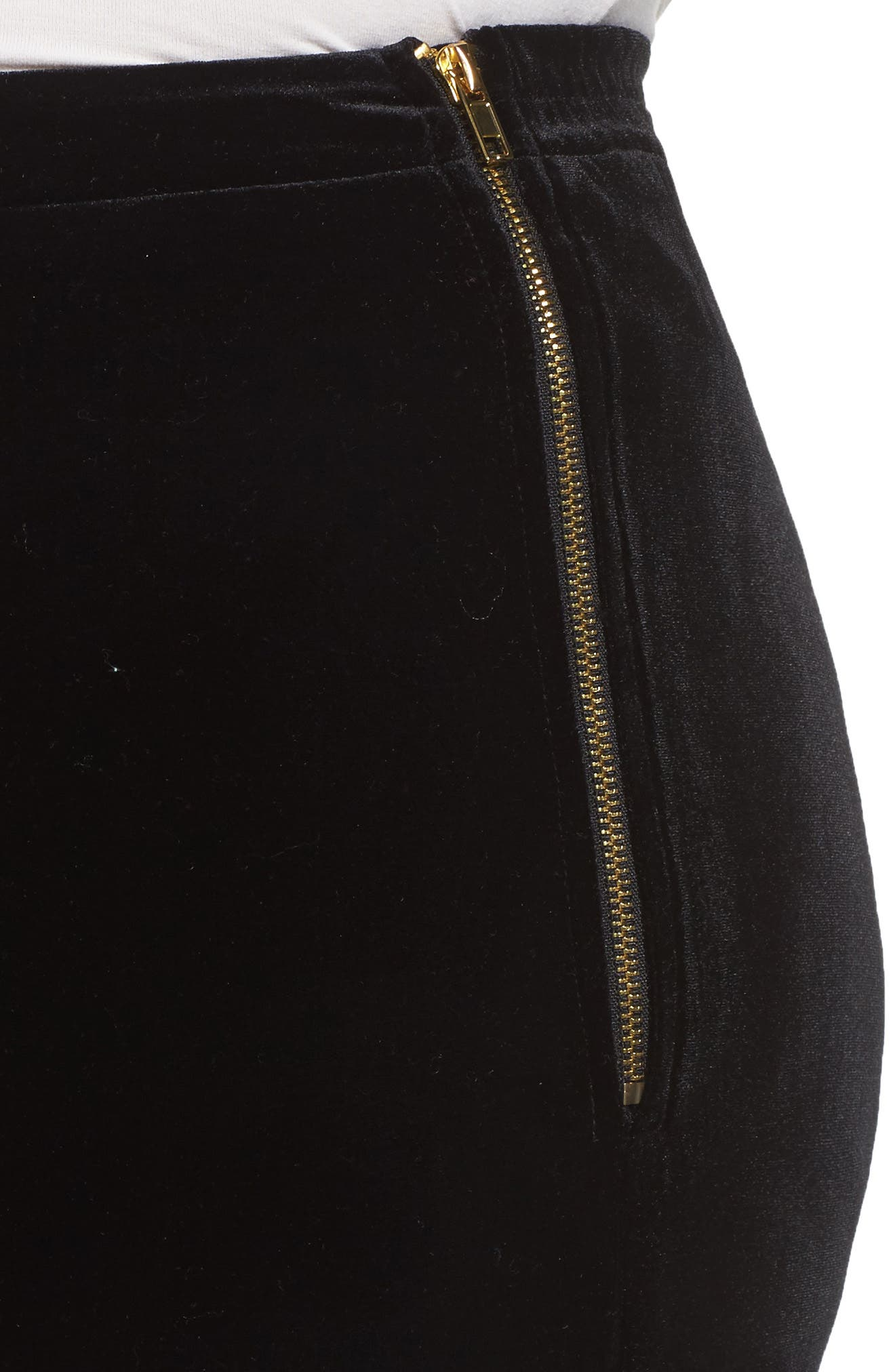 Black Velvet Trousers,                             Alternate thumbnail 4, color,                             001