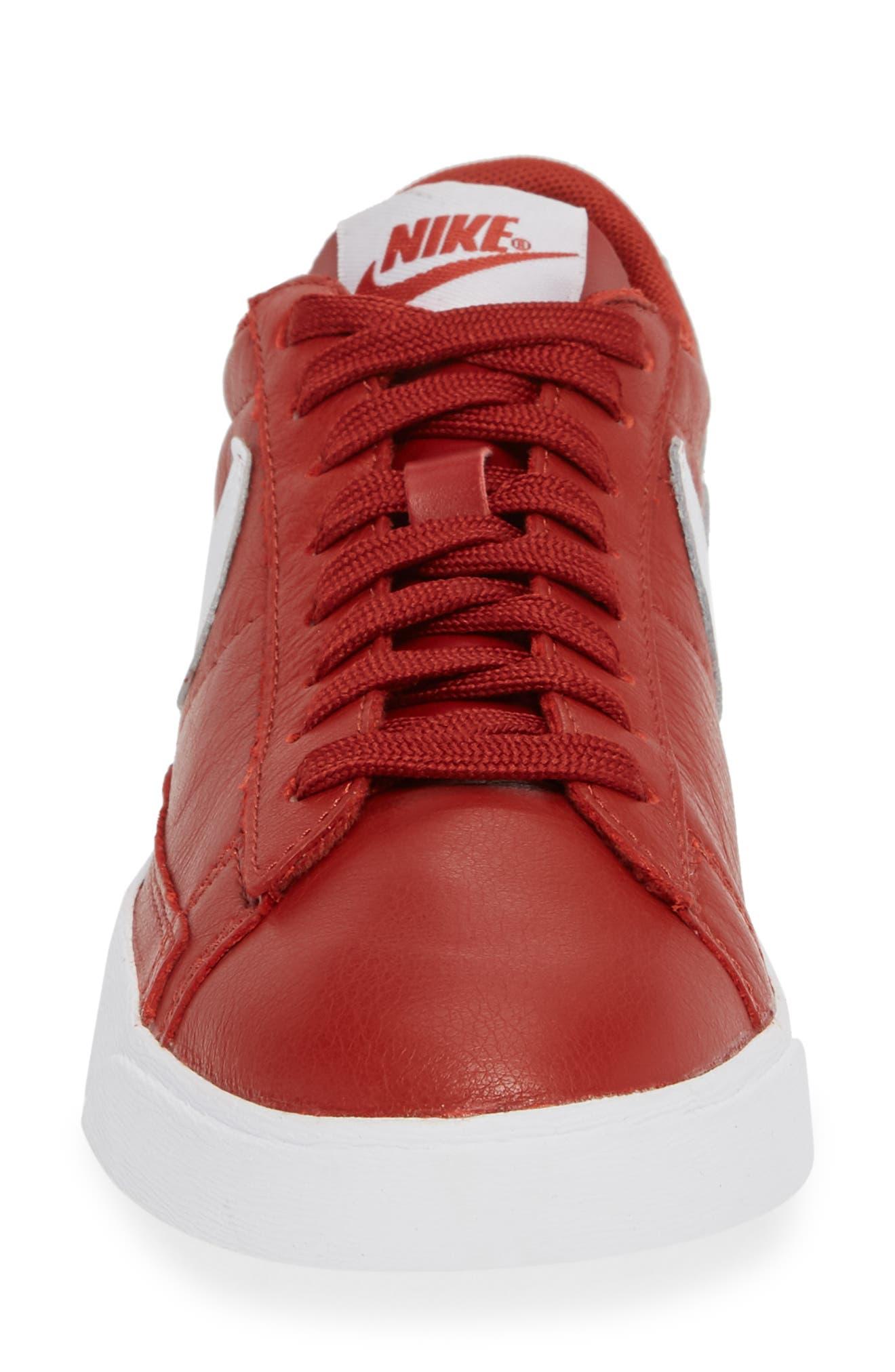 Blazer Low SE Sneaker,                             Alternate thumbnail 4, color,                             DUNE RED/ WHITE-DUNE RED
