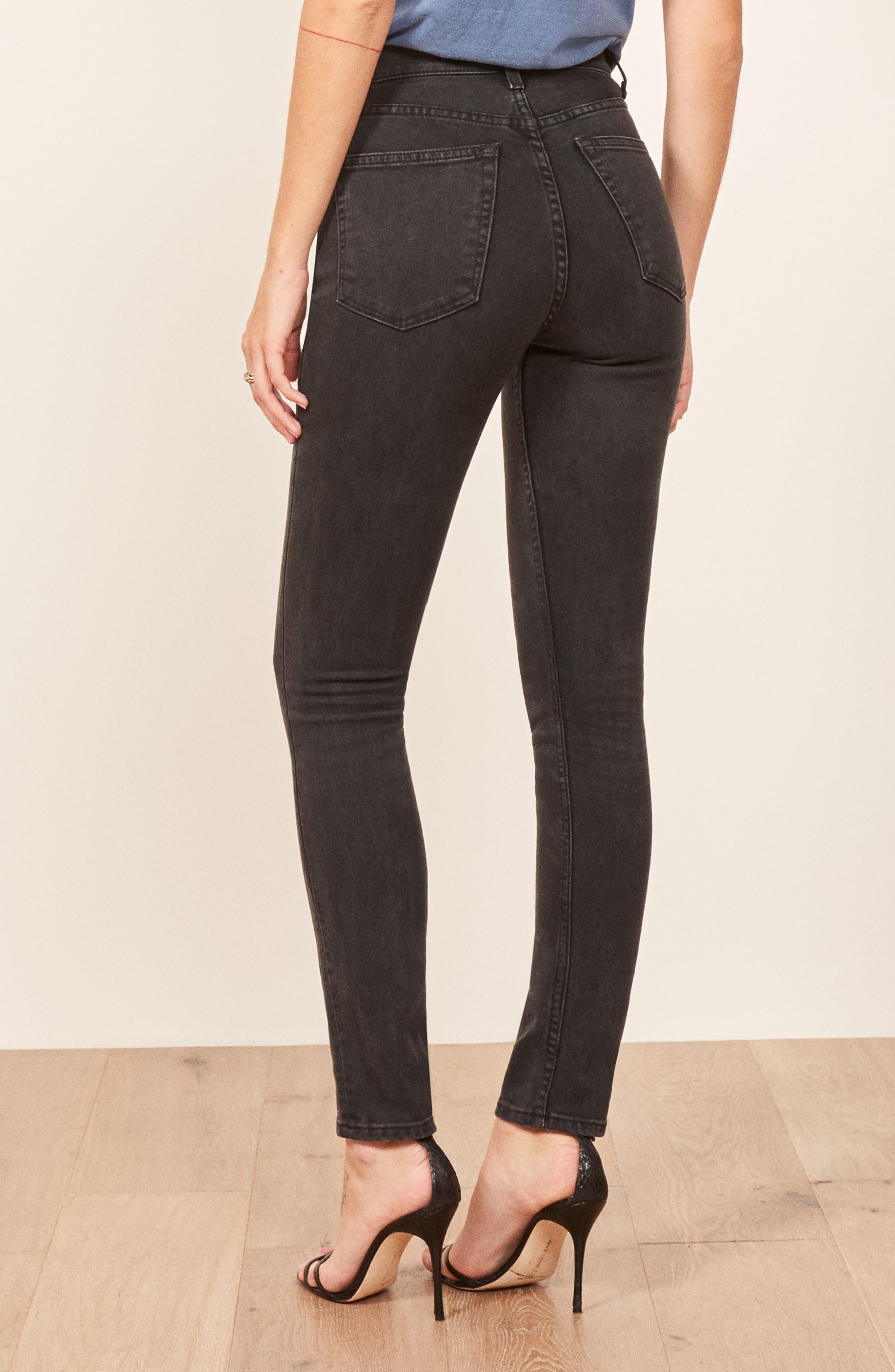 Serena High Waist Skinny Jeans,                             Alternate thumbnail 2, color,                             ARGENTINE