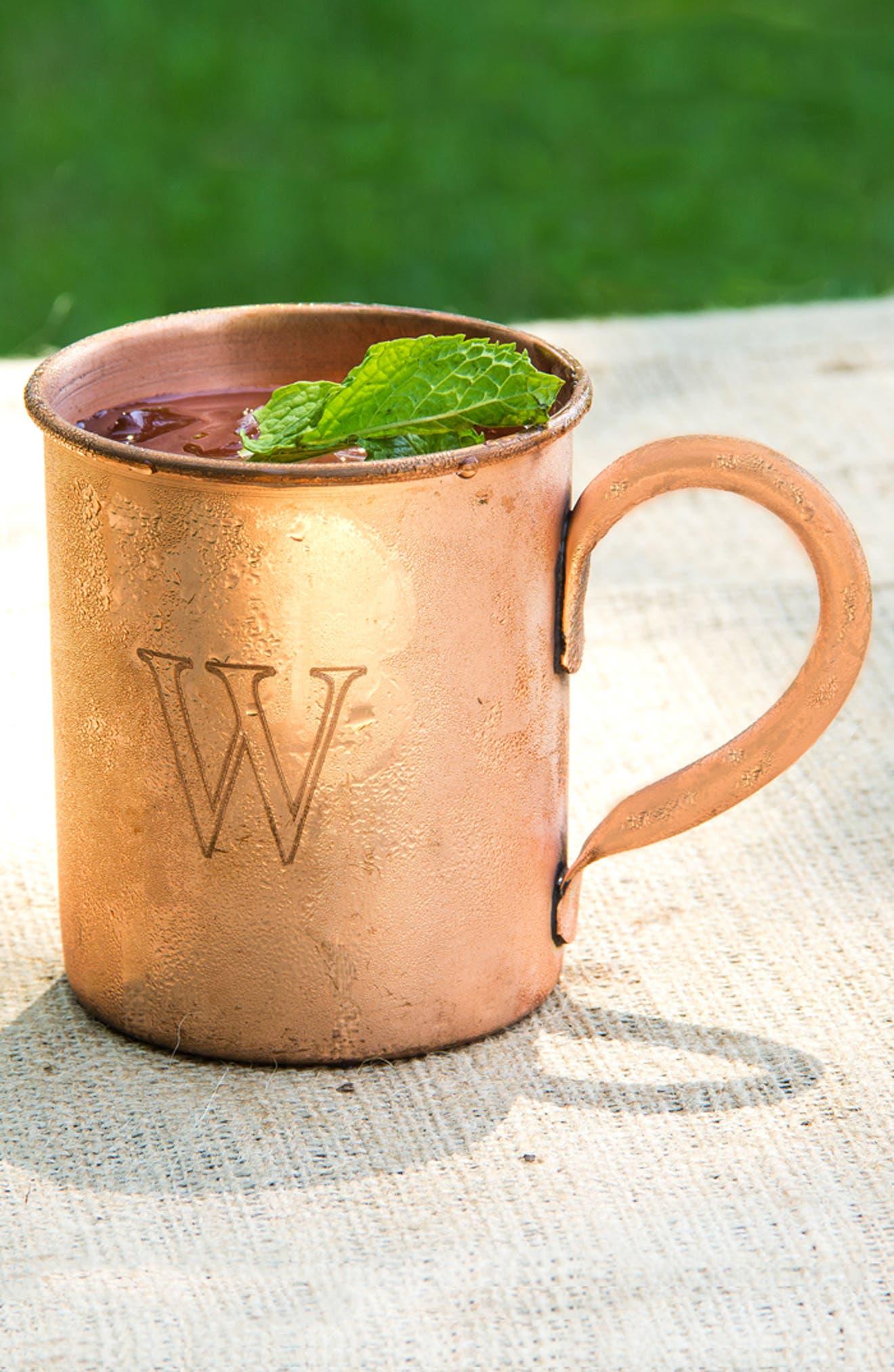 Monogram Moscow Mule Copper Mug,                             Alternate thumbnail 3, color,                             243