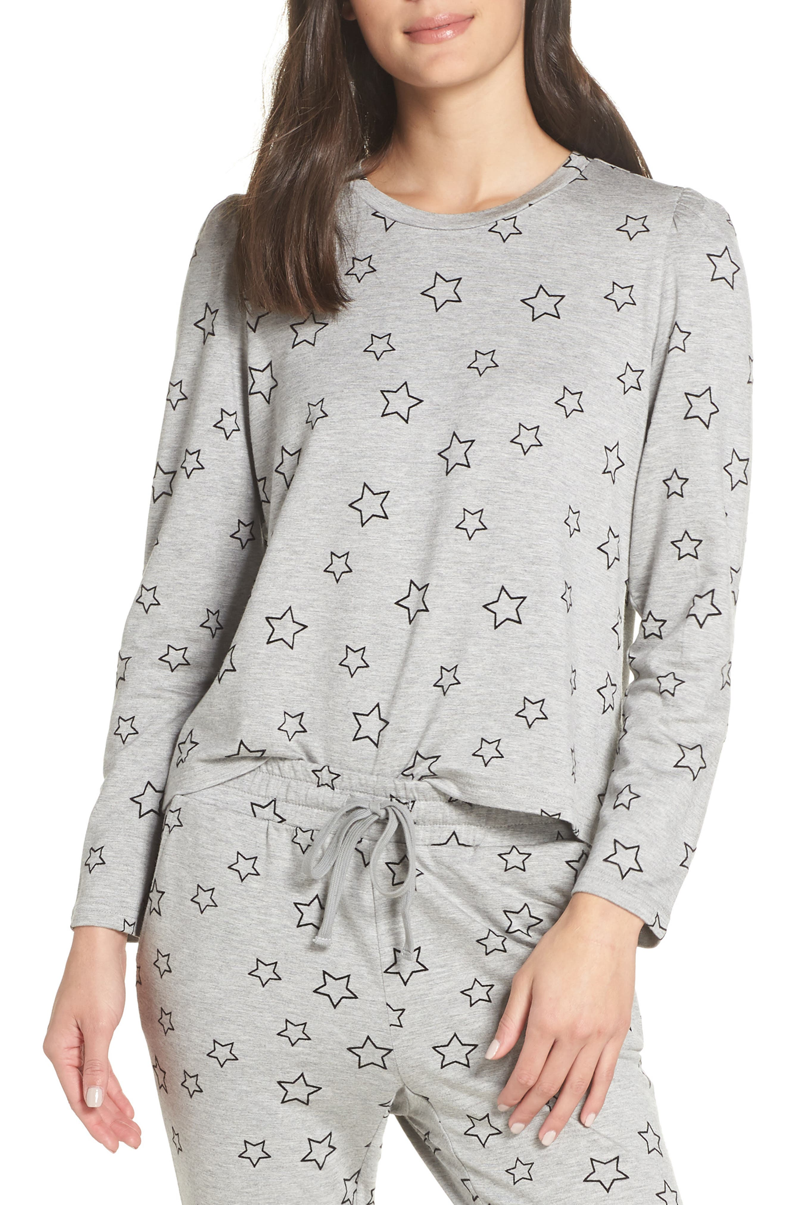 Seeing Stars Top in Heather Grey