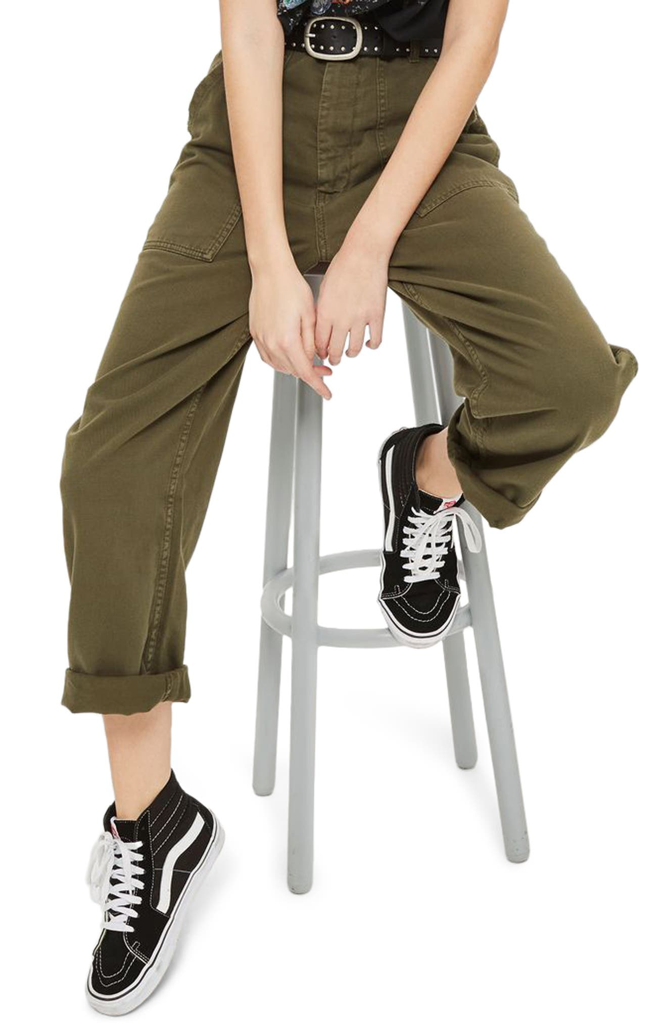 Wide Leg Utility Trousers,                             Alternate thumbnail 3, color,